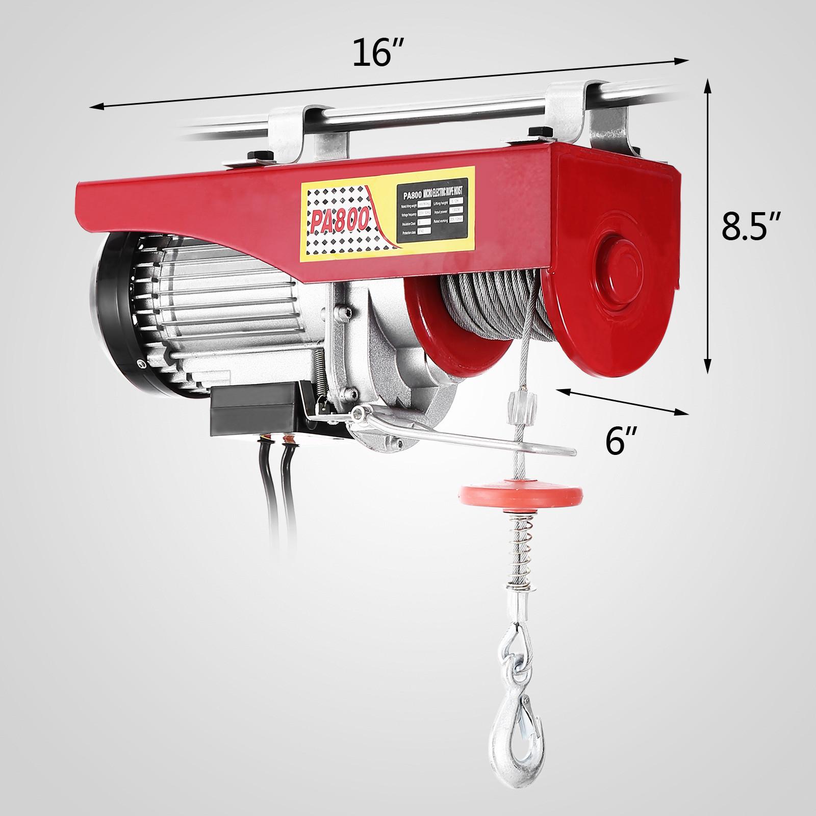 100kg-900kg-Electric-Hoist-Winch-Lifting-Engine-Crane-Cable-Lift-Hook-Garage miniature 50