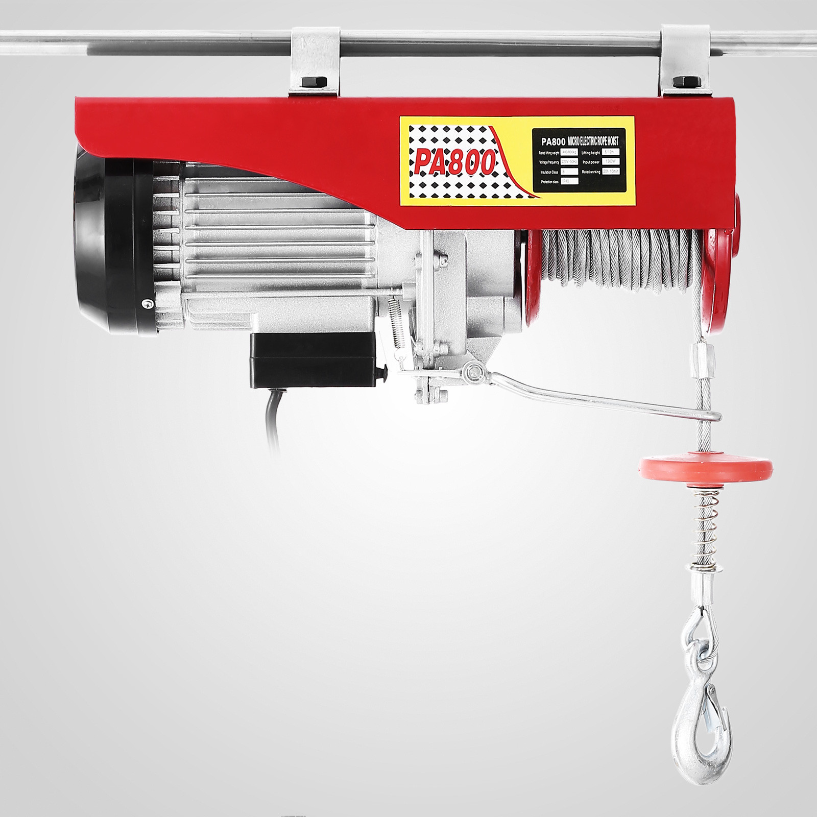 100kg-900kg-Electric-Hoist-Winch-Lifting-Engine-Crane-Cable-Lift-Hook-Garage miniature 52