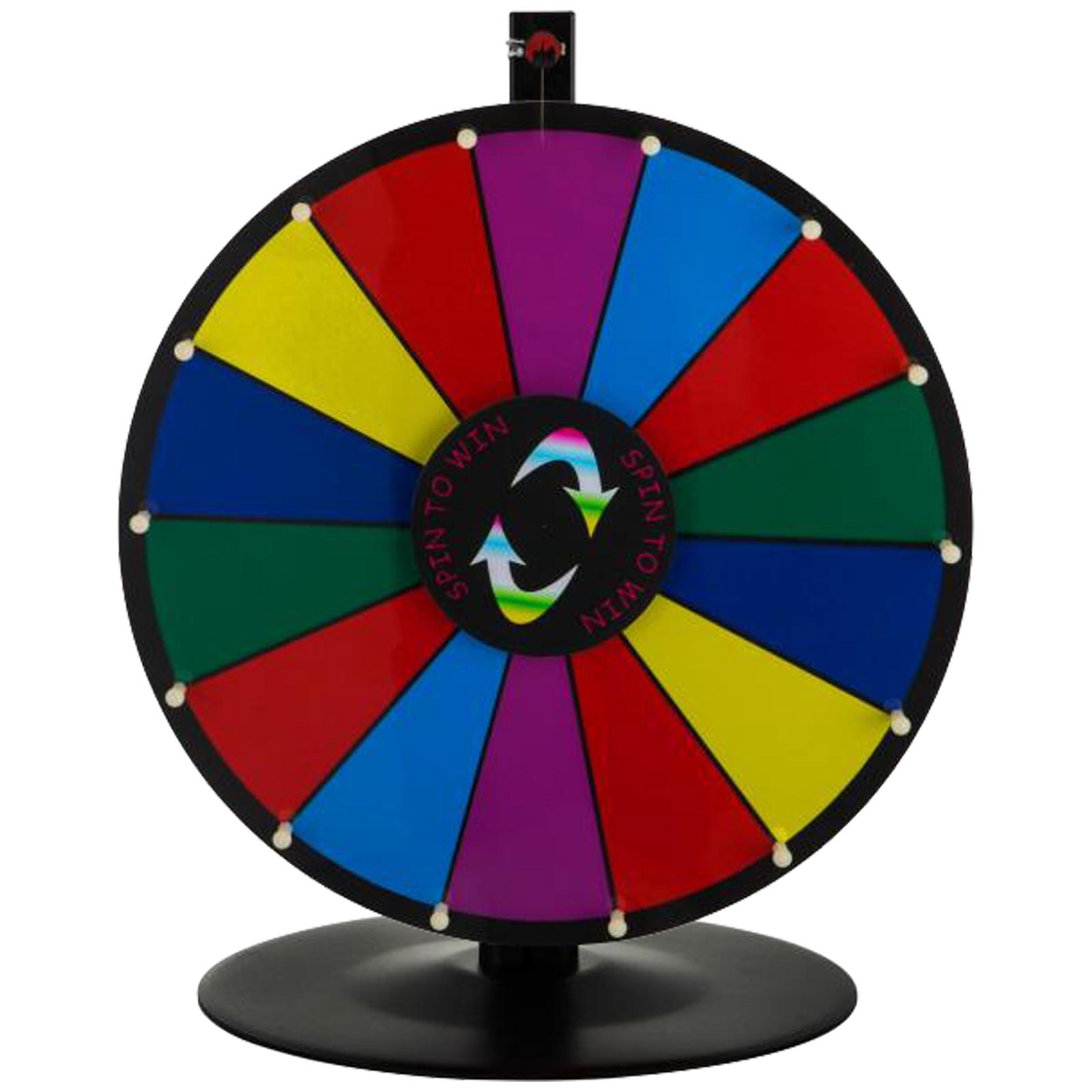 24-18-15-Ruota-Della-Fortuna-di-Colore-14-Slots-Gioco-Spin-Con-Supporto-Festa miniatura 38