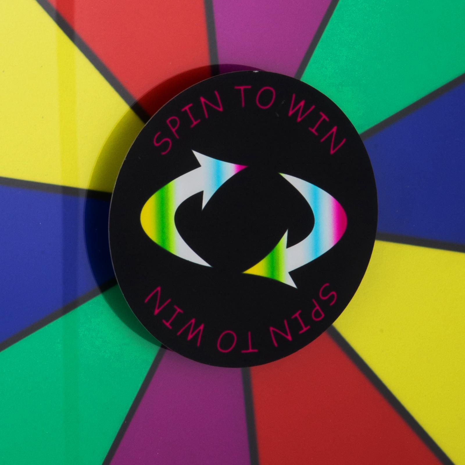 24-18-15-Ruota-Della-Fortuna-di-Colore-14-Slots-Gioco-Spin-Con-Supporto-Festa miniatura 44