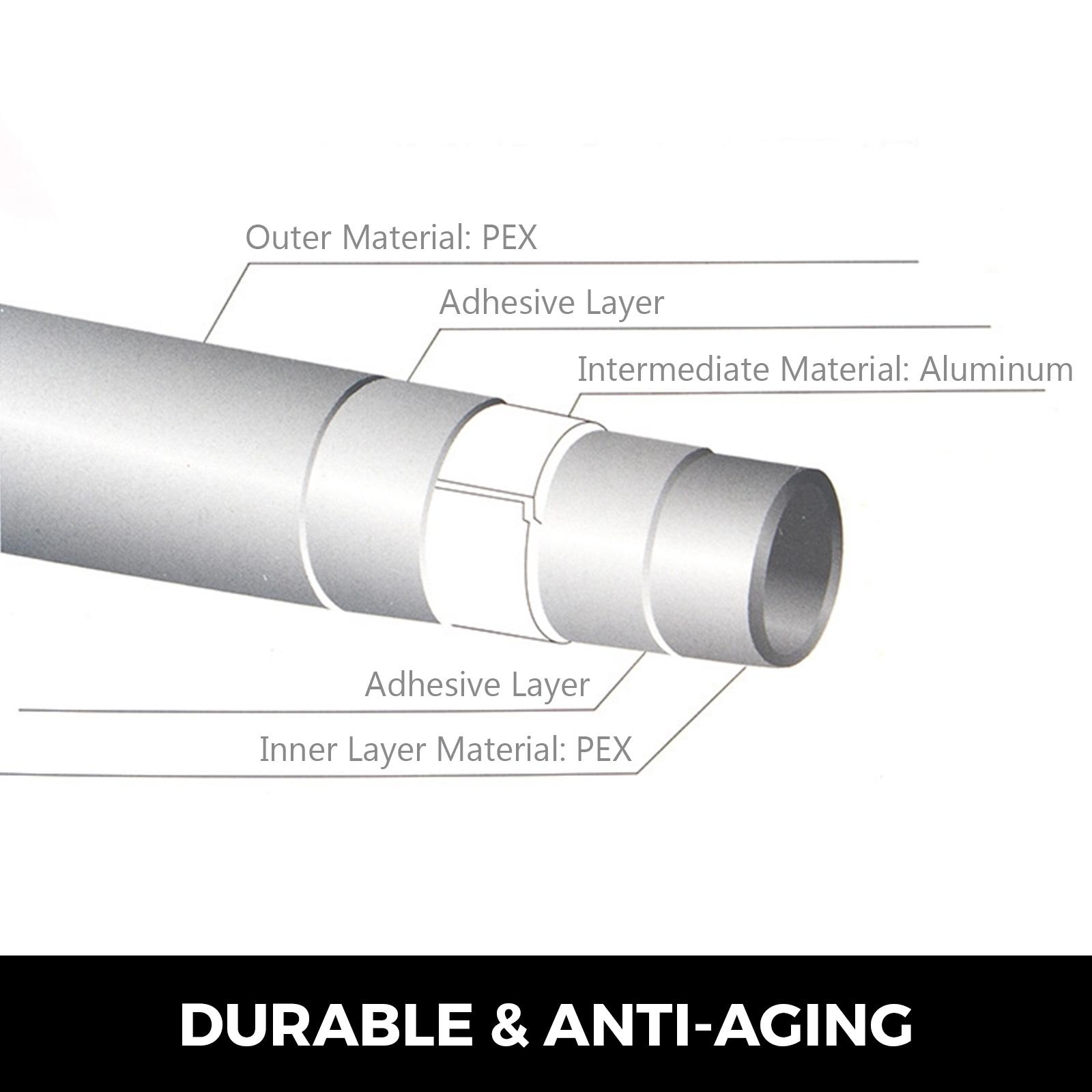 Underfloor Heating Pex Al Pex Pipe Tubing 16mm X 2mm 300m Heating Multilayer Ebay