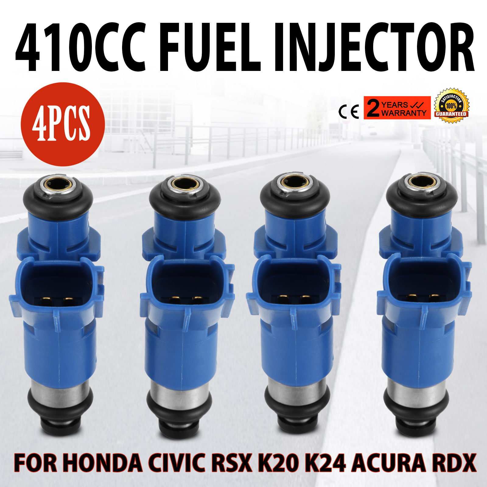 For Acura OEM RDX Denso 410cc Injector KIT SET Honda civic Integra RSX K20 K24