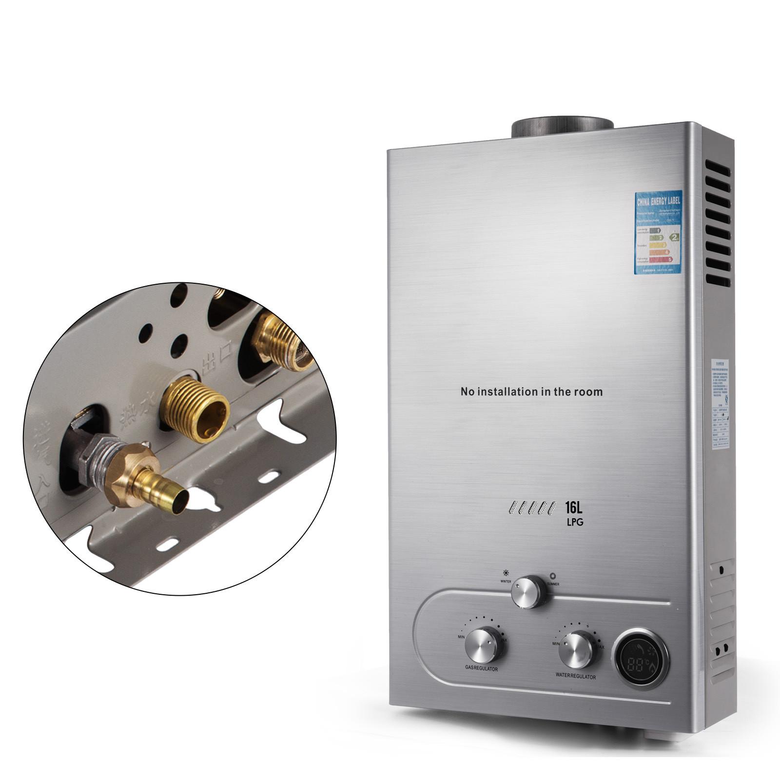 Propangas-Gas-Durchlauferhitzer-Warmwasserbereiter-Boiler-Warmwasserspeicher Indexbild 83