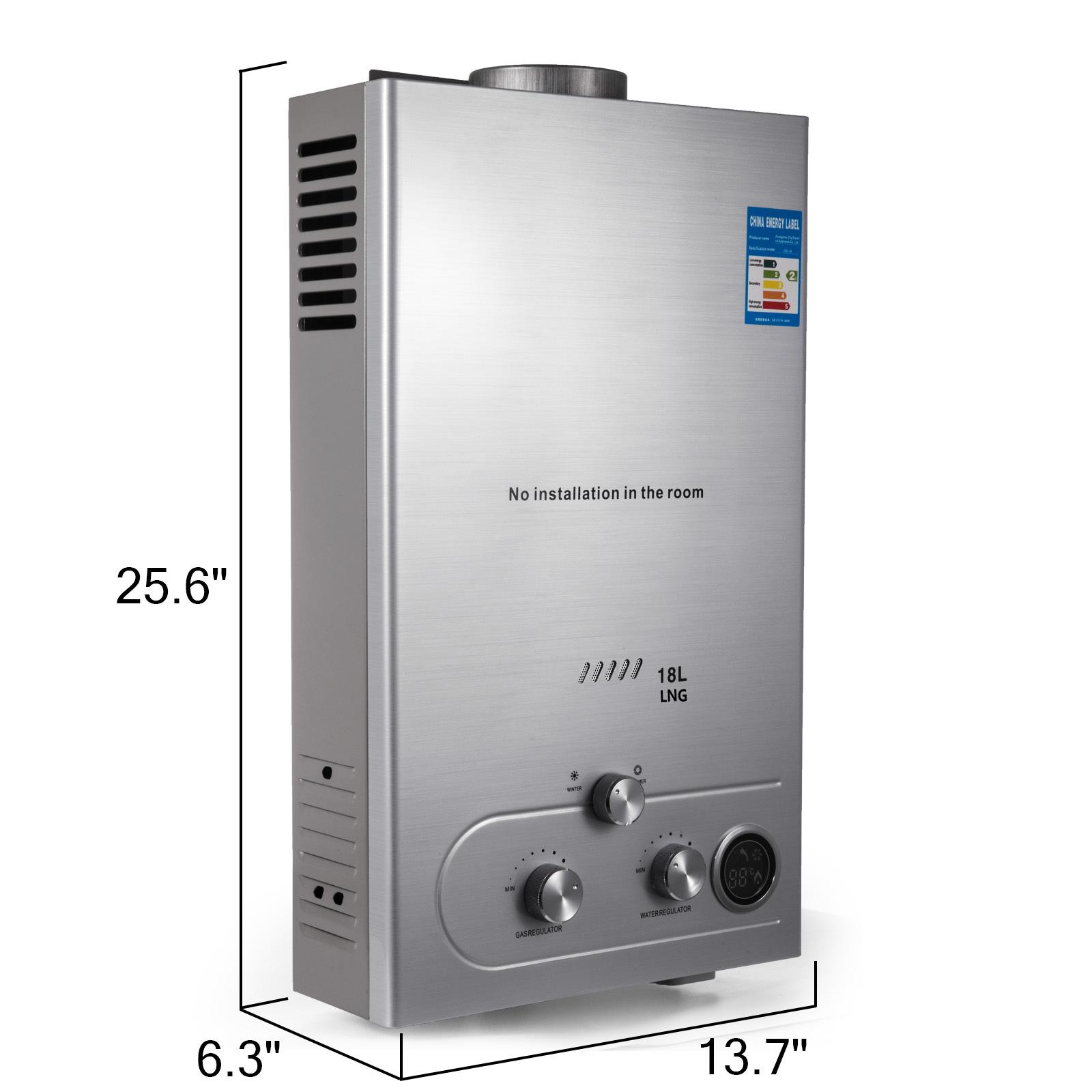 Neu 8L//min 16KW Gas LPG Propane Warmwasserbereiter Durchlauferhitzer Boiler