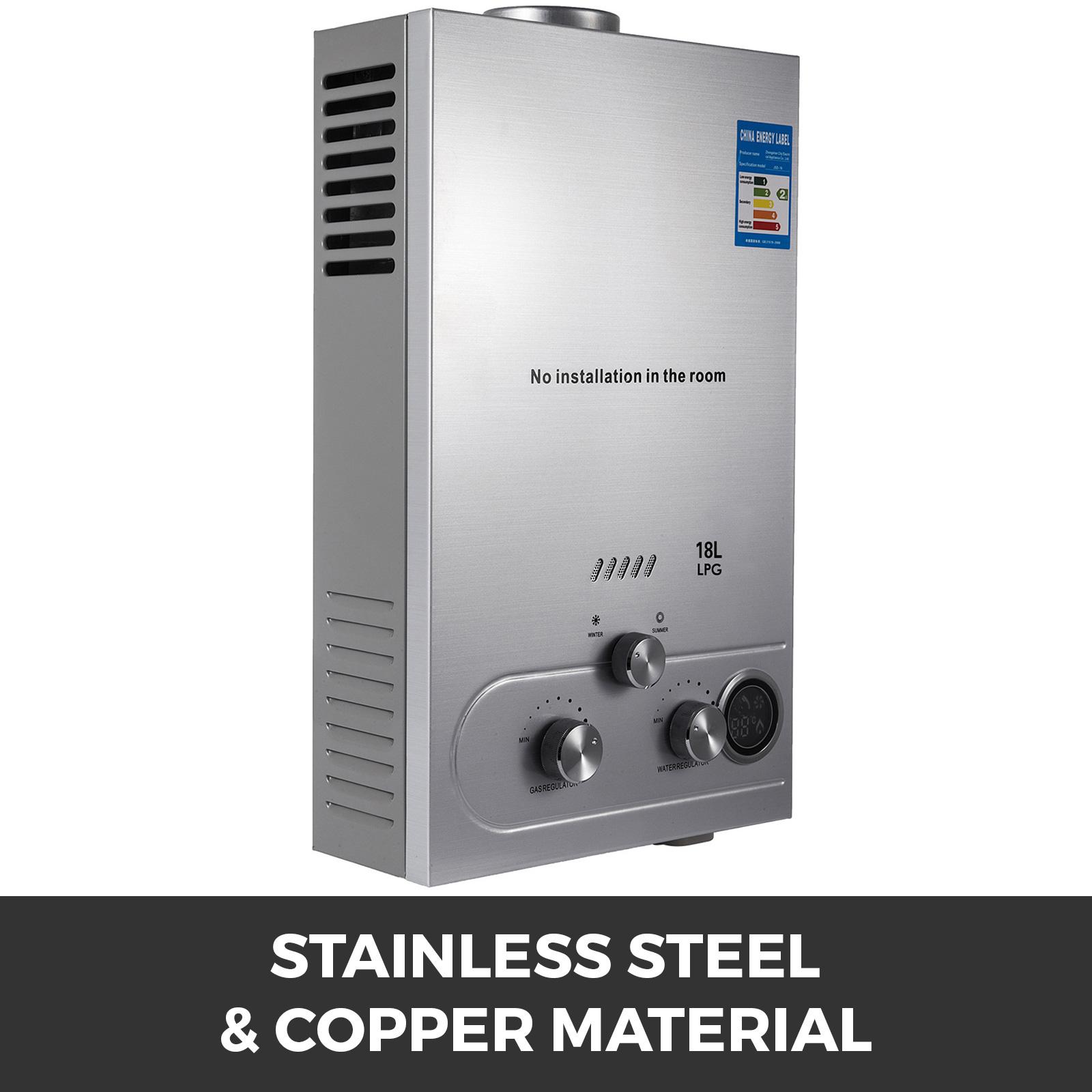 Propangas-Gas-Durchlauferhitzer-Warmwasserbereiter-Boiler-Warmwasserspeicher Indexbild 86