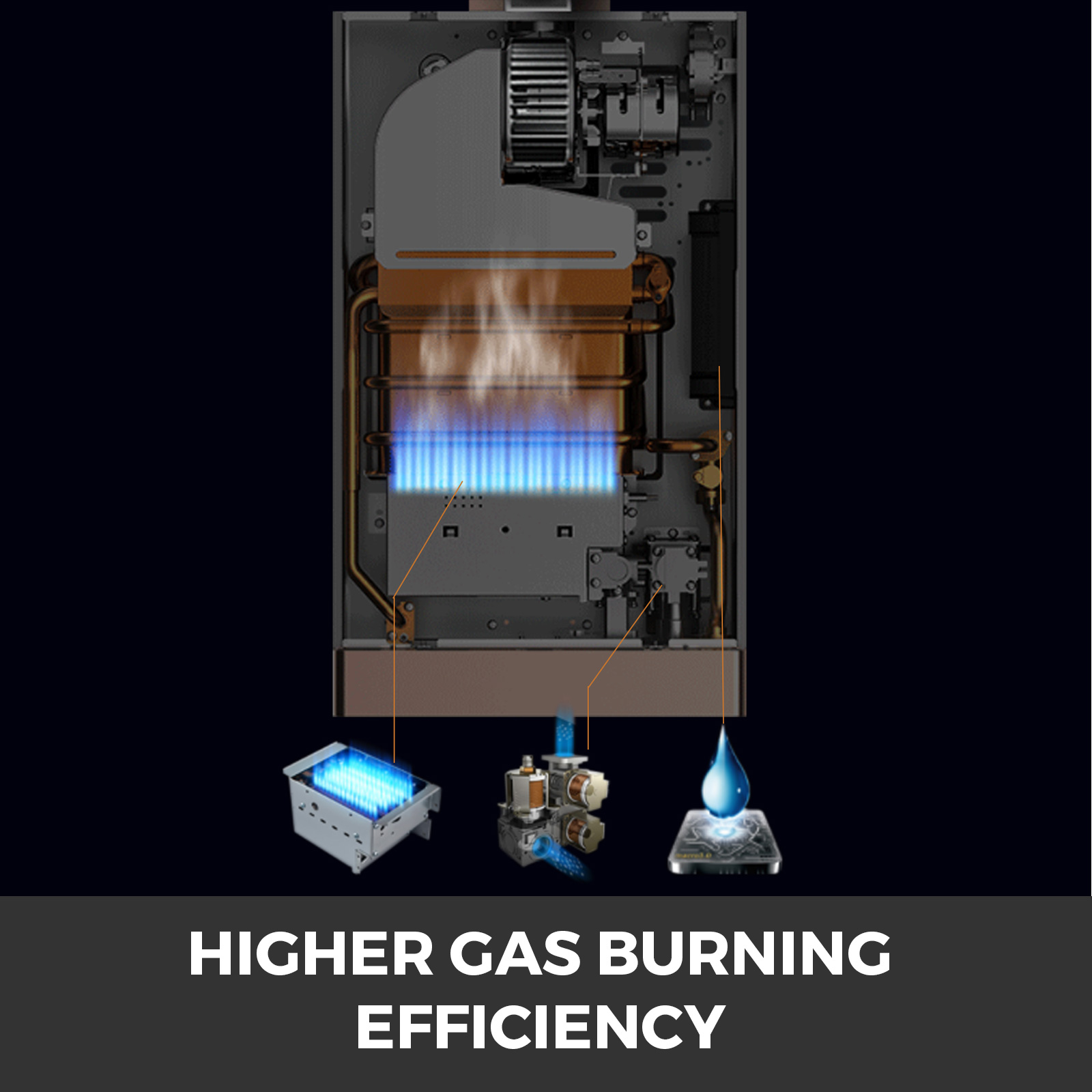 Propangas-Gas-Durchlauferhitzer-Warmwasserbereiter-Boiler-Warmwasserspeicher Indexbild 89