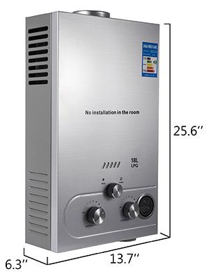Propangas-Gas-Durchlauferhitzer-Warmwasserbereiter-Boiler-Warmwasserspeicher Indexbild 92
