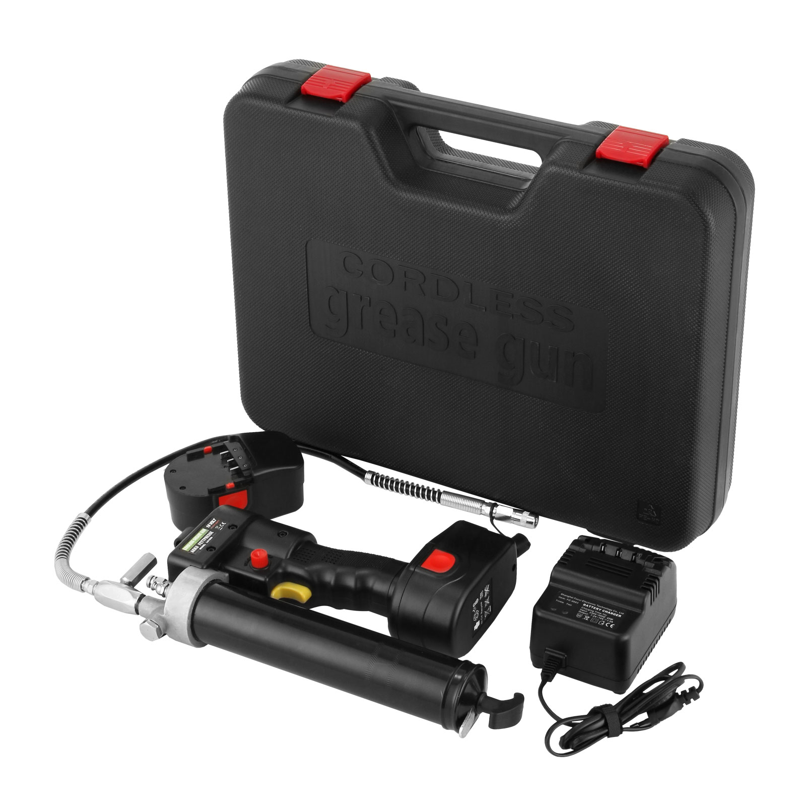 Electric Grease Gun >> 18v Volt Battery Electric Grease Gun Cordless Rechargeable