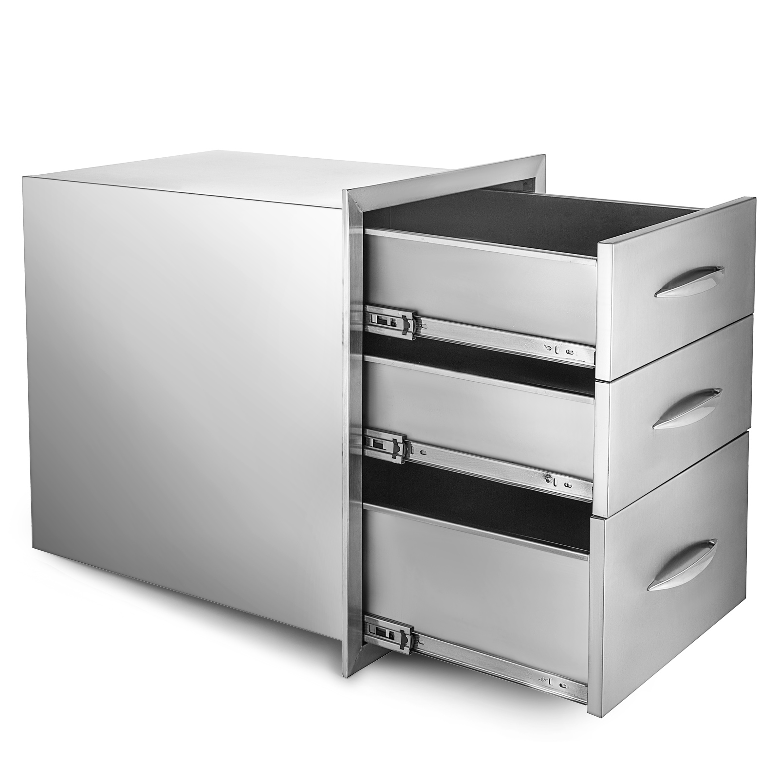 BBQ Triple Drawer 46 X 59 CM Built-In 3 Drawers Outdoor ...
