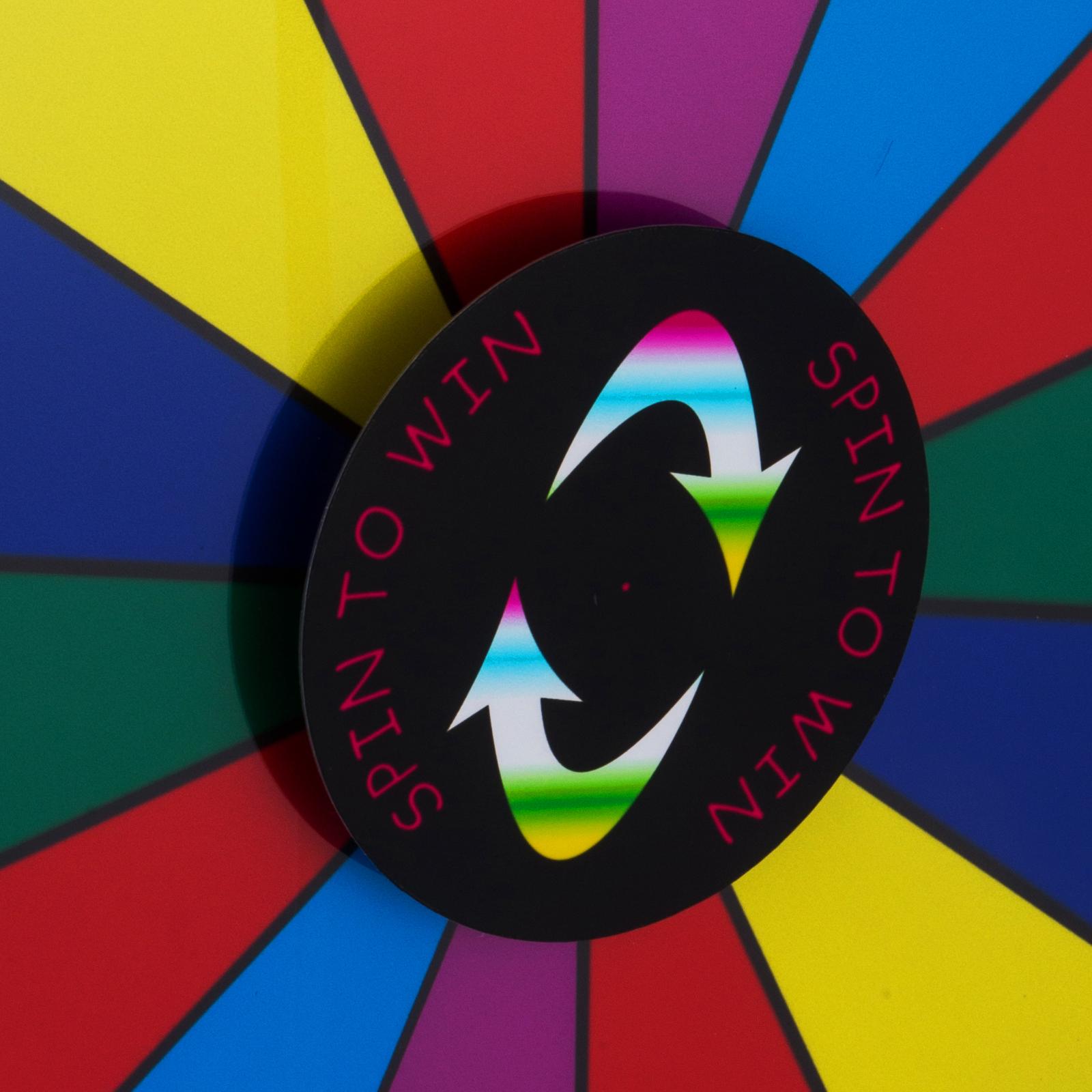 24-18-15-Ruota-Della-Fortuna-di-Colore-14-Slots-Gioco-Spin-Con-Supporto-Festa miniatura 69