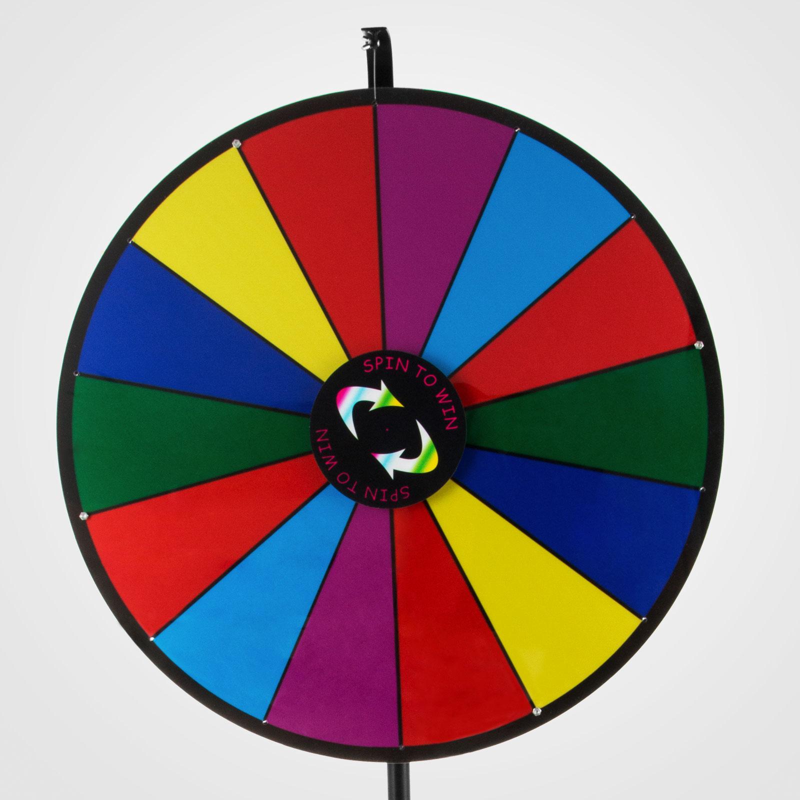 24-18-15-Ruota-Della-Fortuna-di-Colore-14-Slots-Gioco-Spin-Con-Supporto-Festa miniatura 92