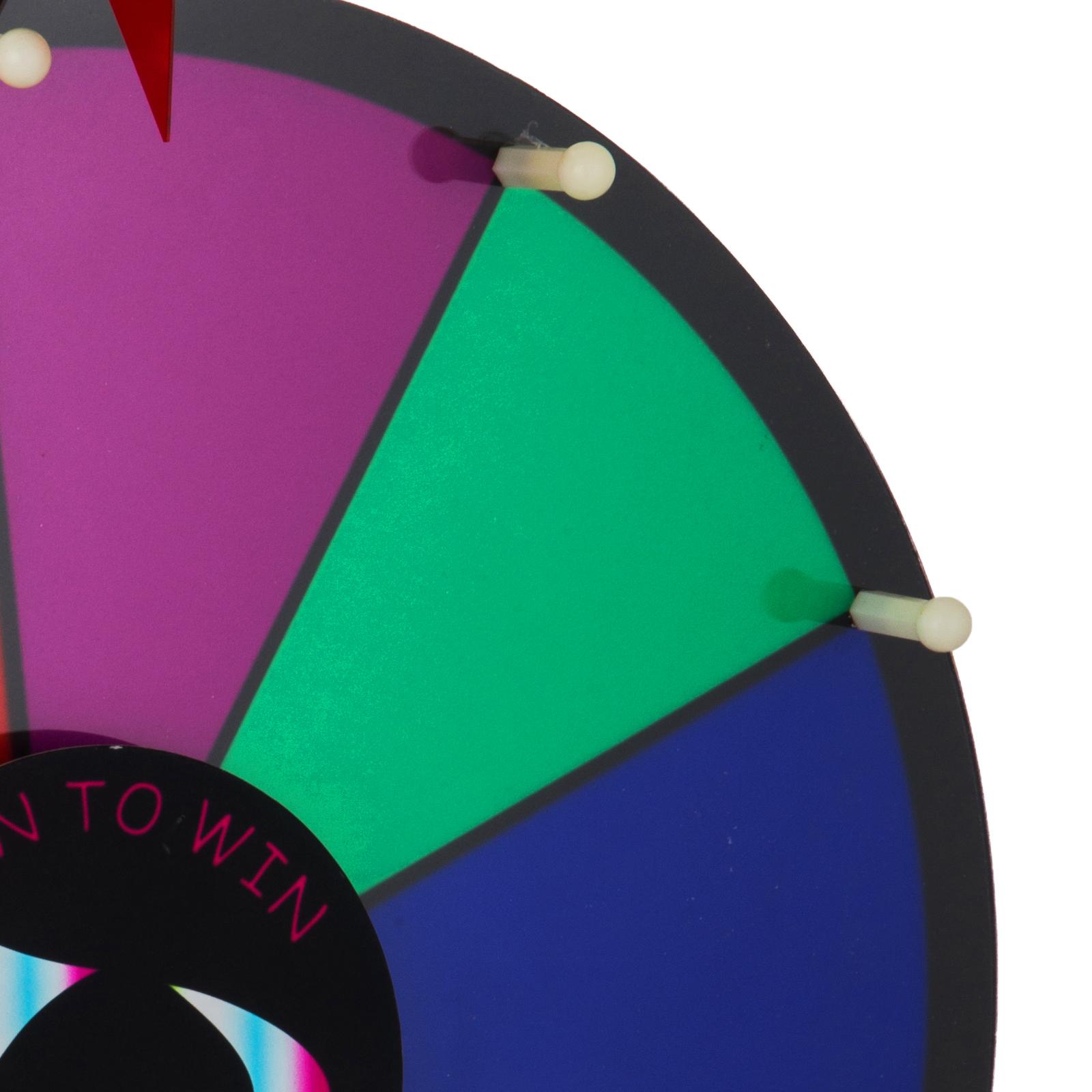 24-18-15-Ruota-Della-Fortuna-di-Colore-14-Slots-Gioco-Spin-Con-Supporto-Festa miniatura 33