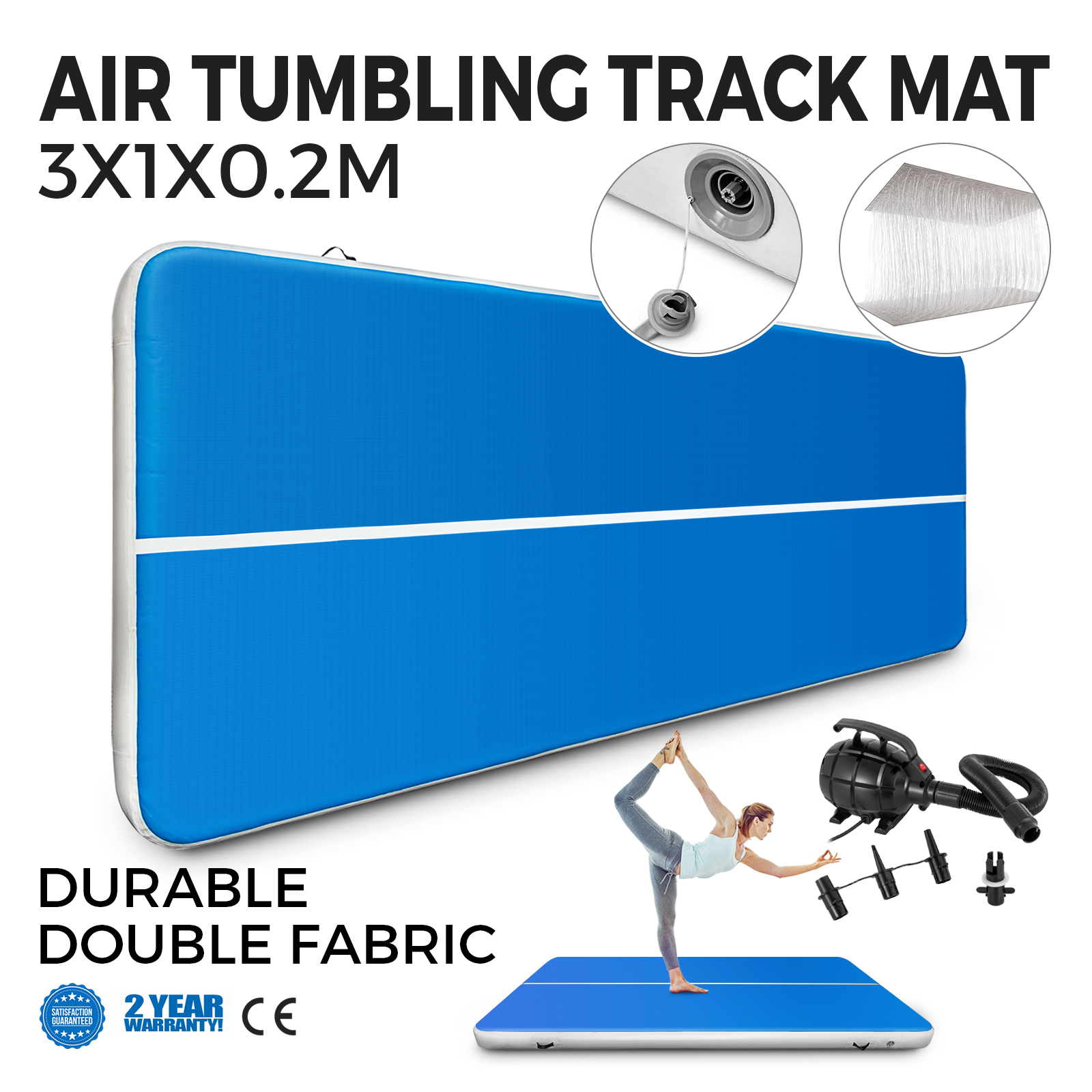 cm air track tumbling inflatable gym taekwondo