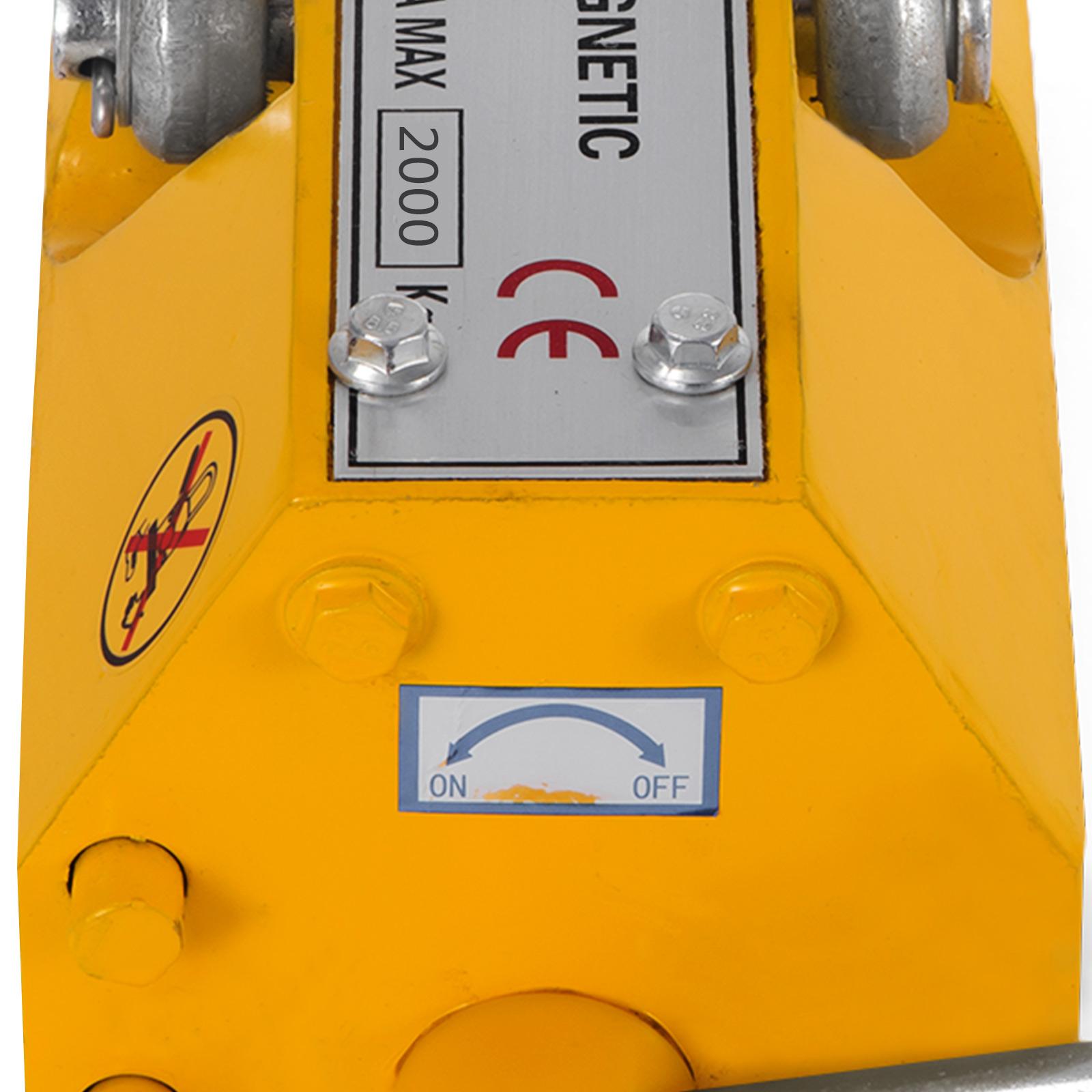 100-300-600-1000KG-Steel-Magnetic-Lifter-Heavy-Duty-Crane-Hoist-Lifting-Magnet miniature 93