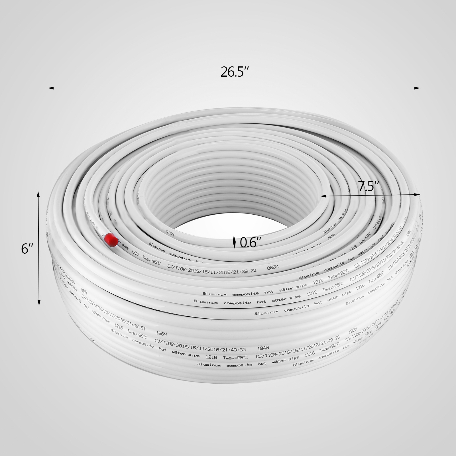 1-2-034-x-100-200-300-1000ft-Pex-Tubing-Oxygen-Barrier-Red-Blue-Radiant-Floor-Heat thumbnail 98
