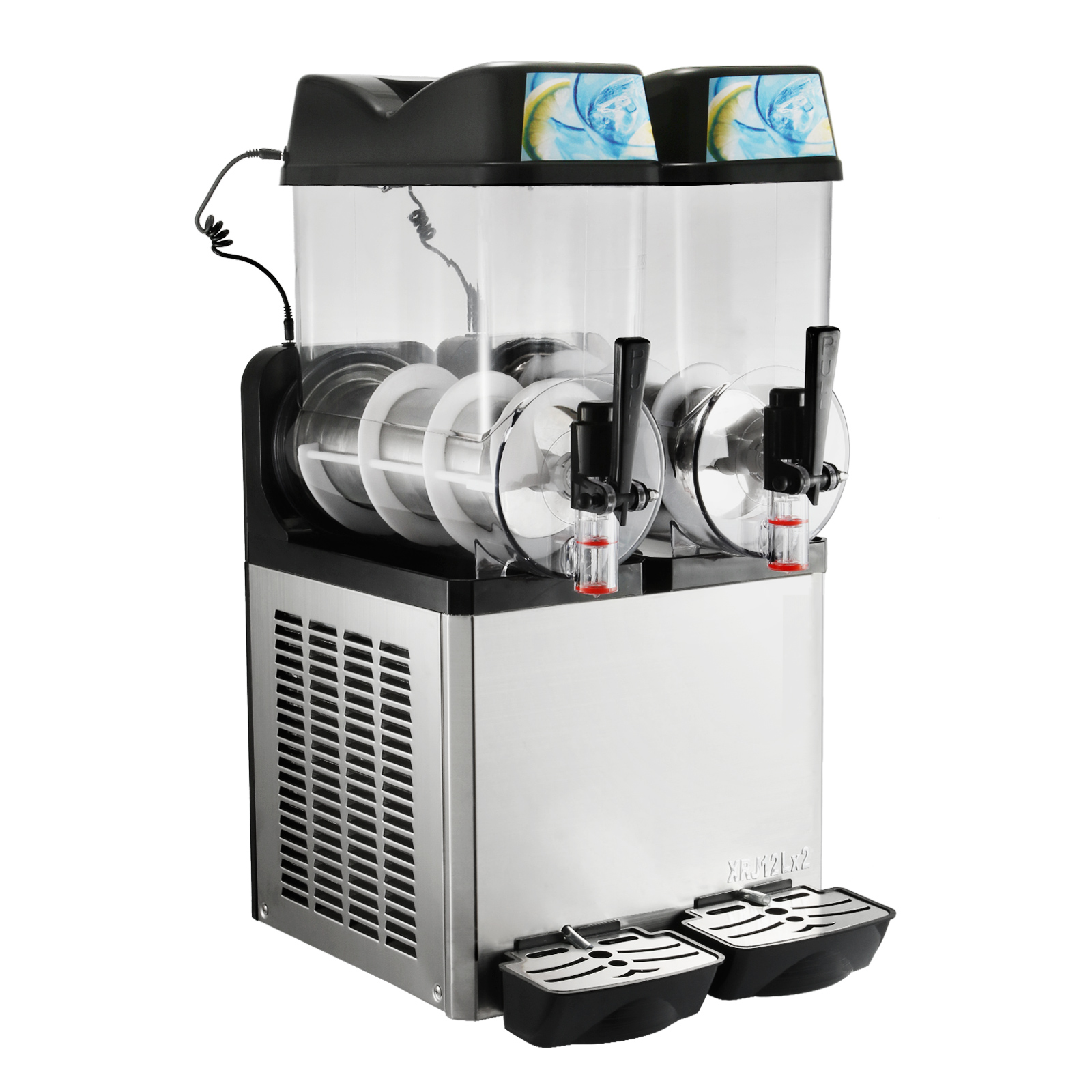 2×12L Commercial Frozen Drink Slush Slushy Machine Slurpee ...