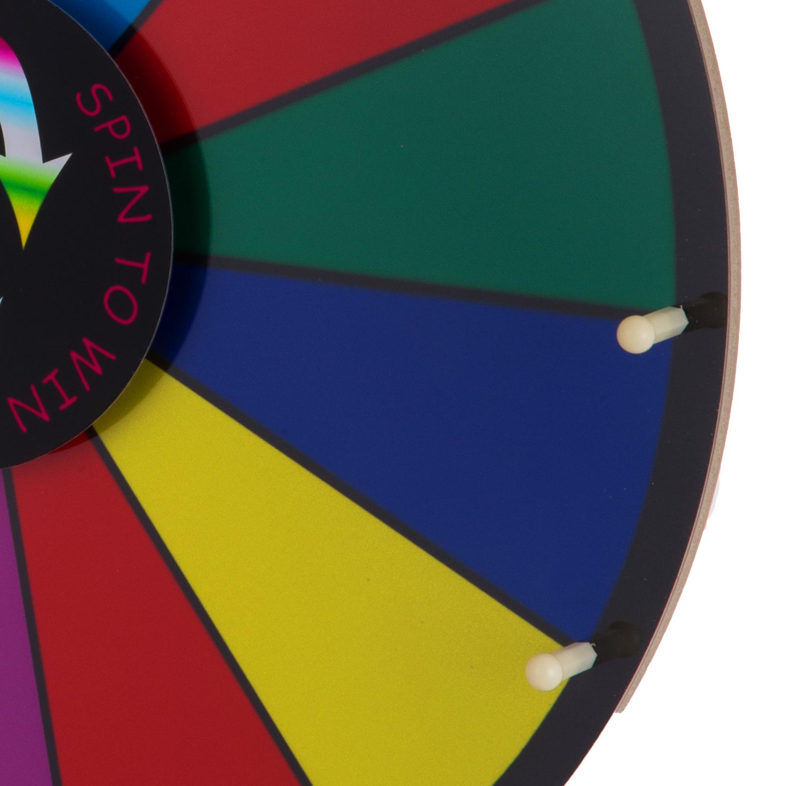 24-18-15-Ruota-Della-Fortuna-di-Colore-14-Slots-Gioco-Spin-Con-Supporto-Festa miniatura 59