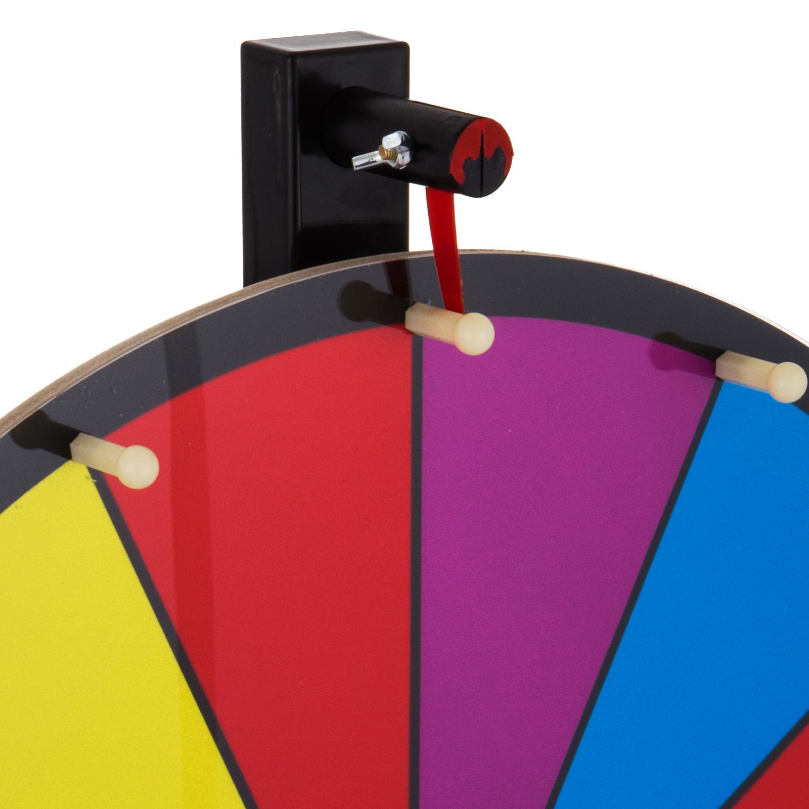 24-18-15-Ruota-Della-Fortuna-di-Colore-14-Slots-Gioco-Spin-Con-Supporto-Festa miniatura 55