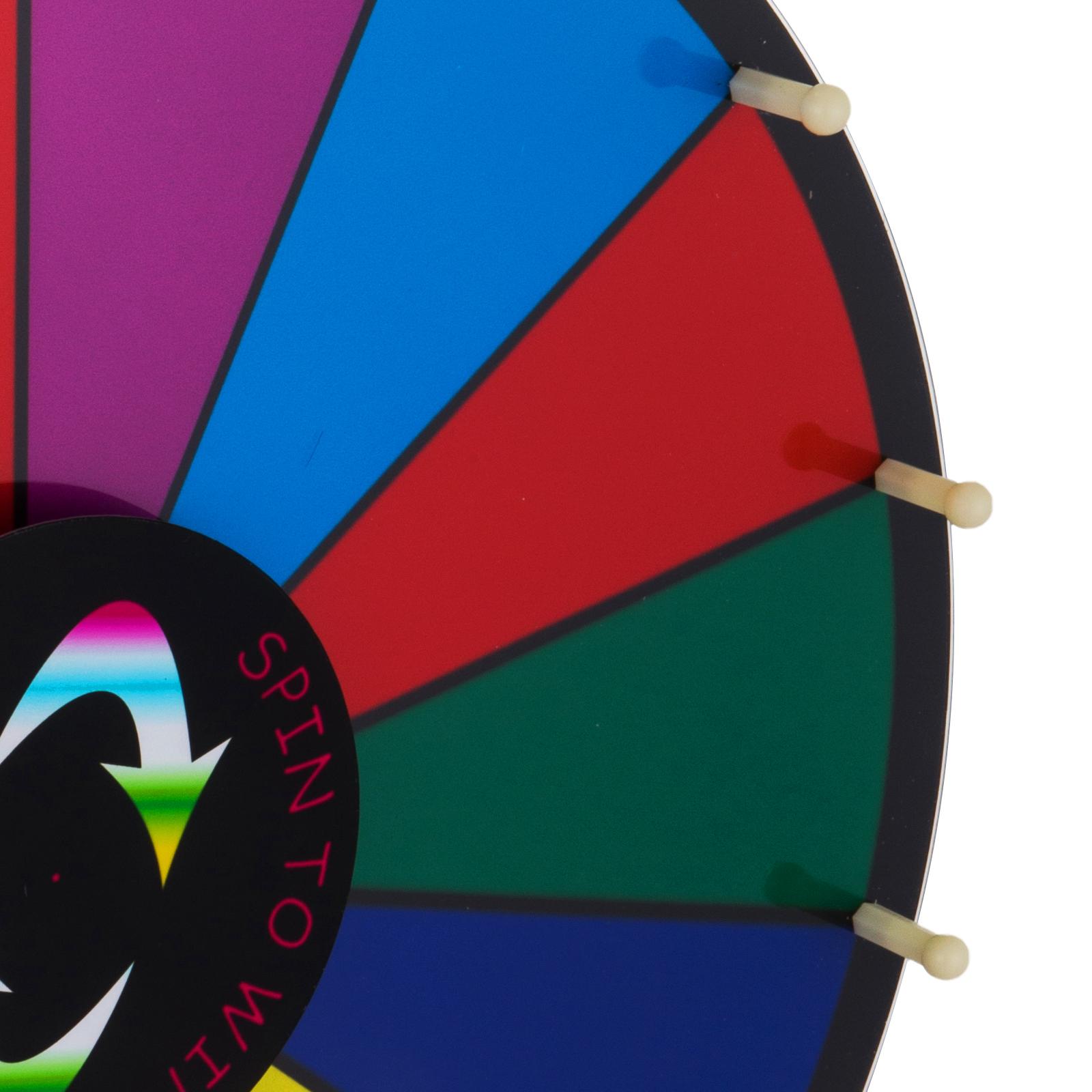 24-18-15-Ruota-Della-Fortuna-di-Colore-14-Slots-Gioco-Spin-Con-Supporto-Festa miniatura 56
