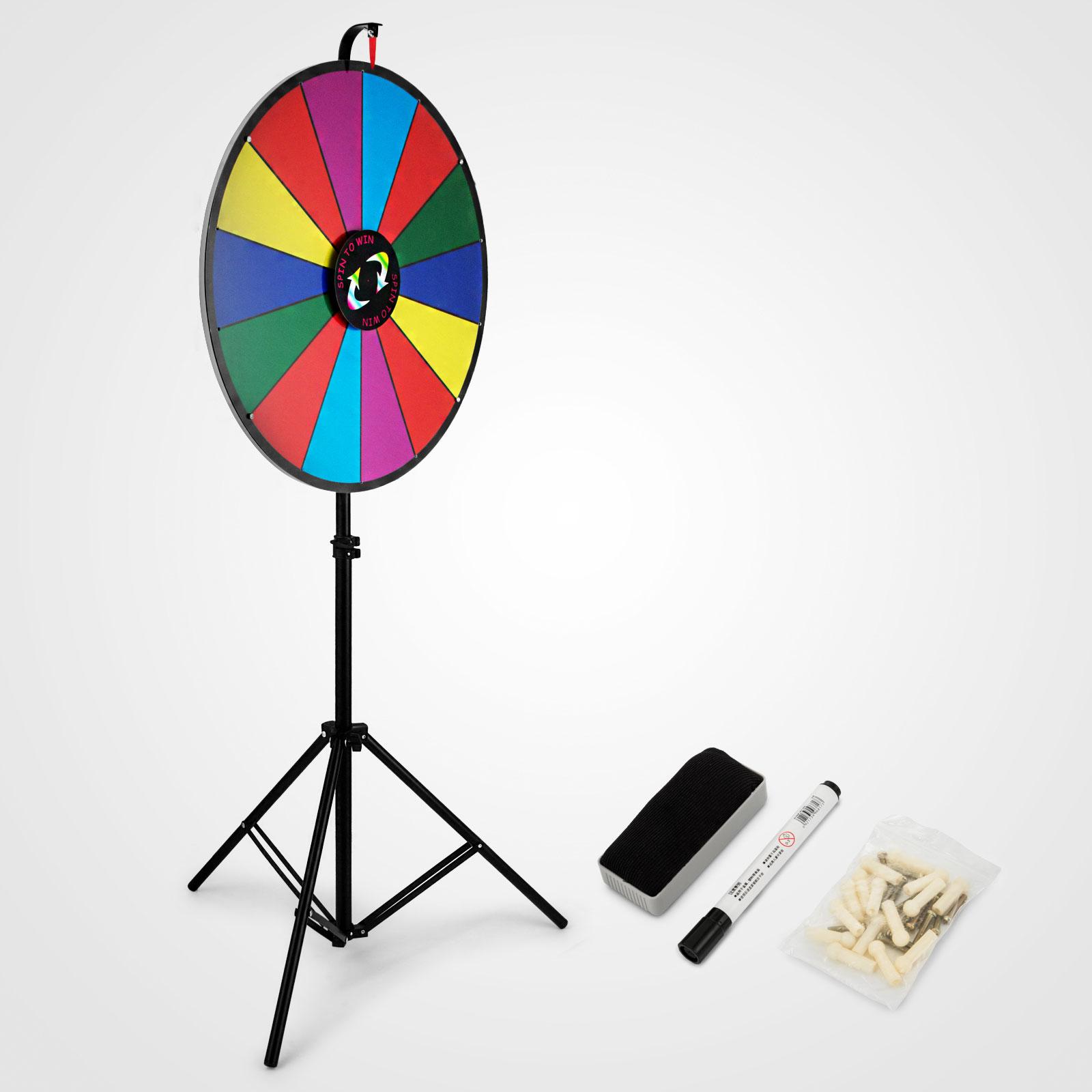 24-18-15-Ruota-Della-Fortuna-di-Colore-14-Slots-Gioco-Spin-Con-Supporto-Festa miniatura 76
