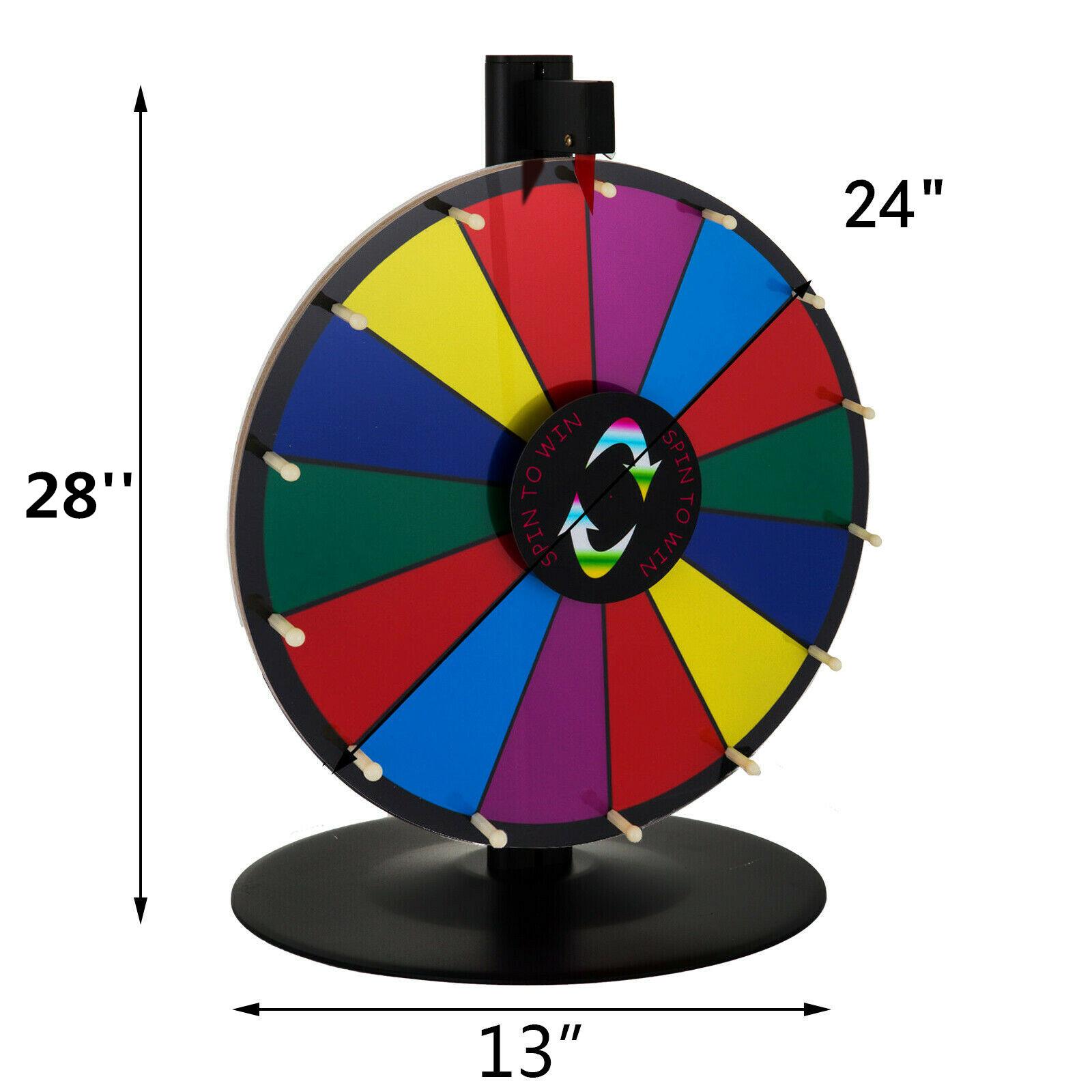 24-18-15-Ruota-Della-Fortuna-di-Colore-14-Slots-Gioco-Spin-Con-Supporto-Festa miniatura 14