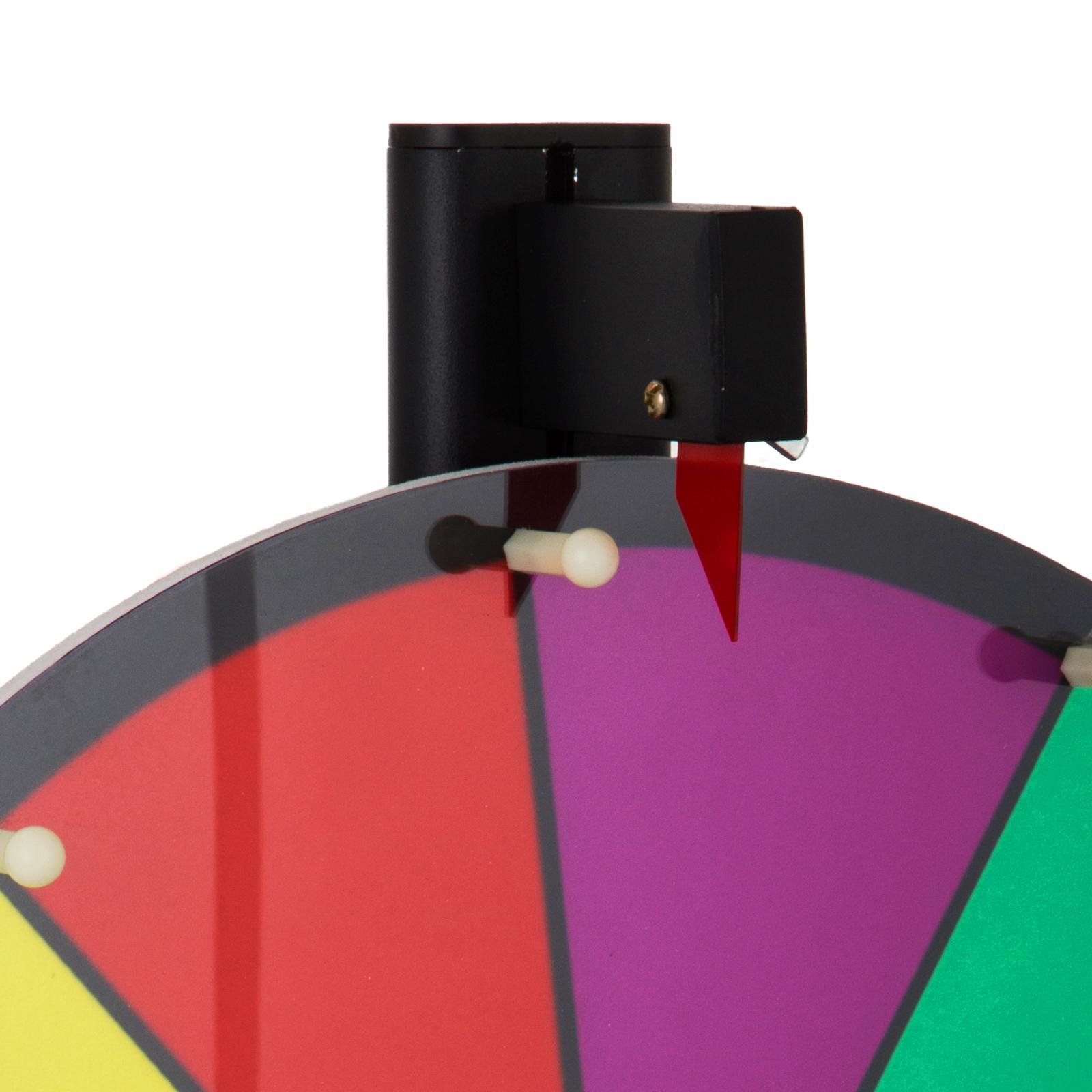 24-18-15-Ruota-Della-Fortuna-di-Colore-14-Slots-Gioco-Spin-Con-Supporto-Festa miniatura 19