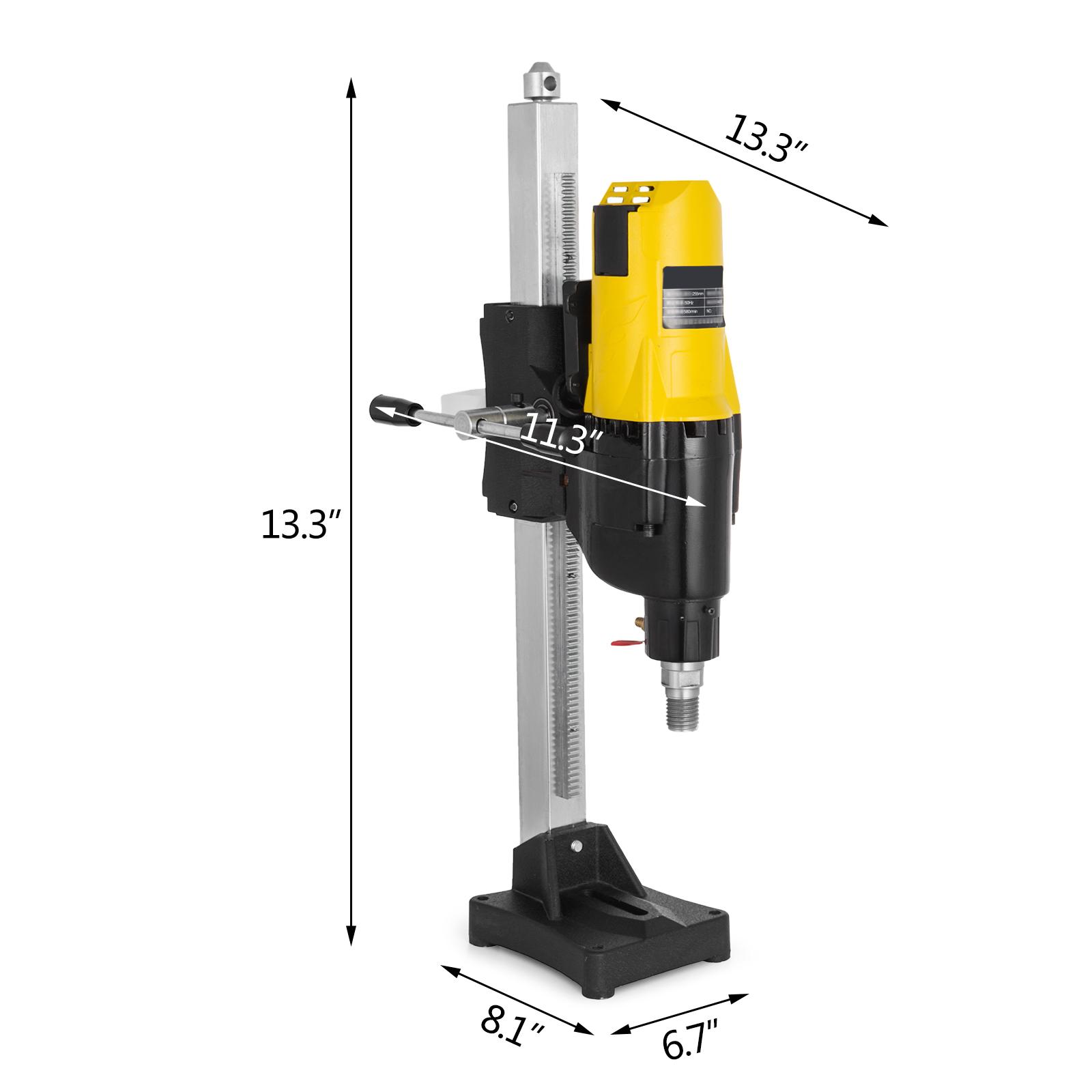 4450W Diamond Core Drill Concrete Drilling Machine Max 255mm w// Stand Press