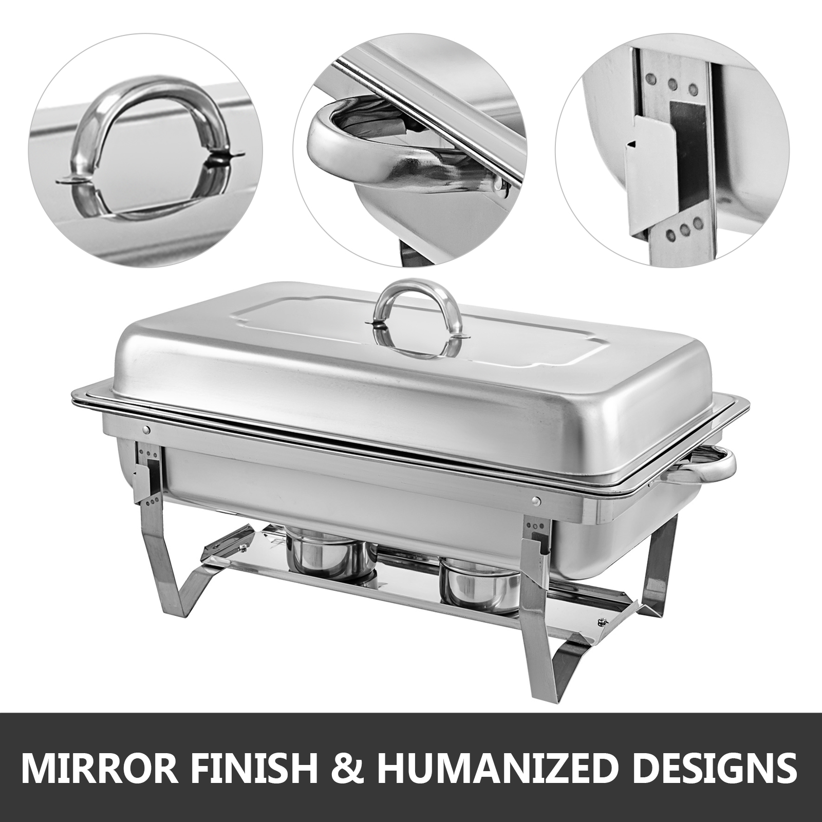 thumbnail 15 - Multi-Stainless-Steel-Chafing-Dish-Bain-Marie-Bow-Catering-Dish-Hotpot-Server