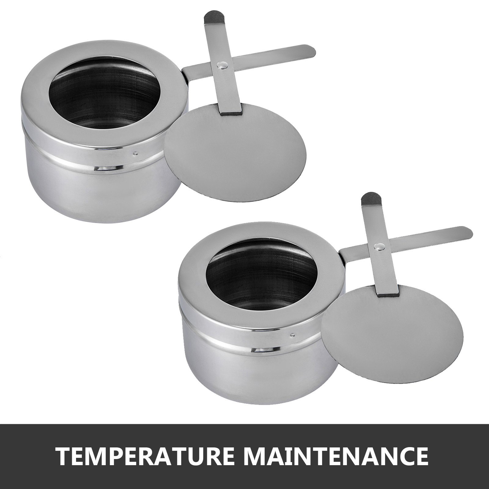 thumbnail 16 - Multi-Stainless-Steel-Chafing-Dish-Bain-Marie-Bow-Catering-Dish-Hotpot-Server