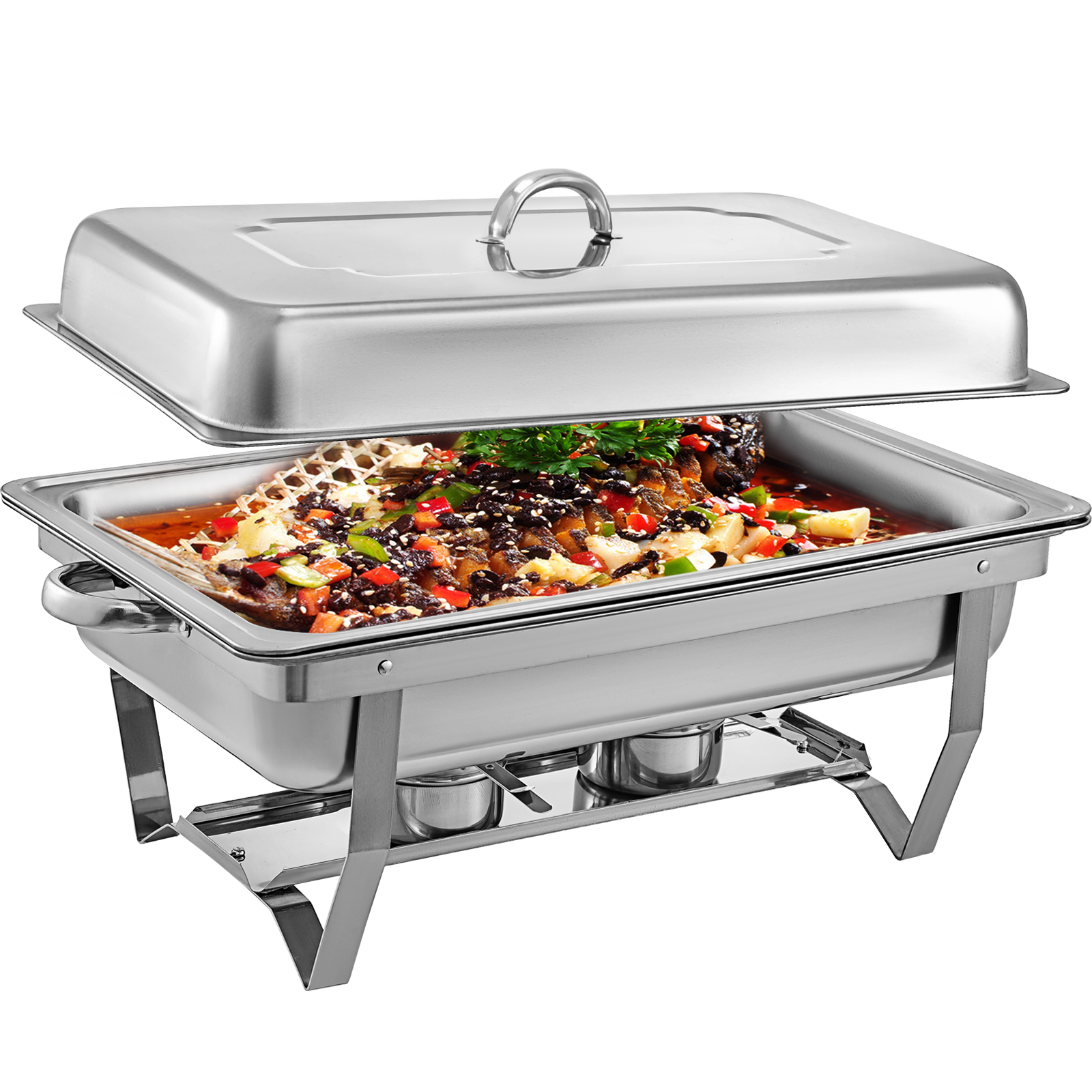 thumbnail 21 - Multi-Stainless-Steel-Chafing-Dish-Bain-Marie-Bow-Catering-Dish-Hotpot-Server