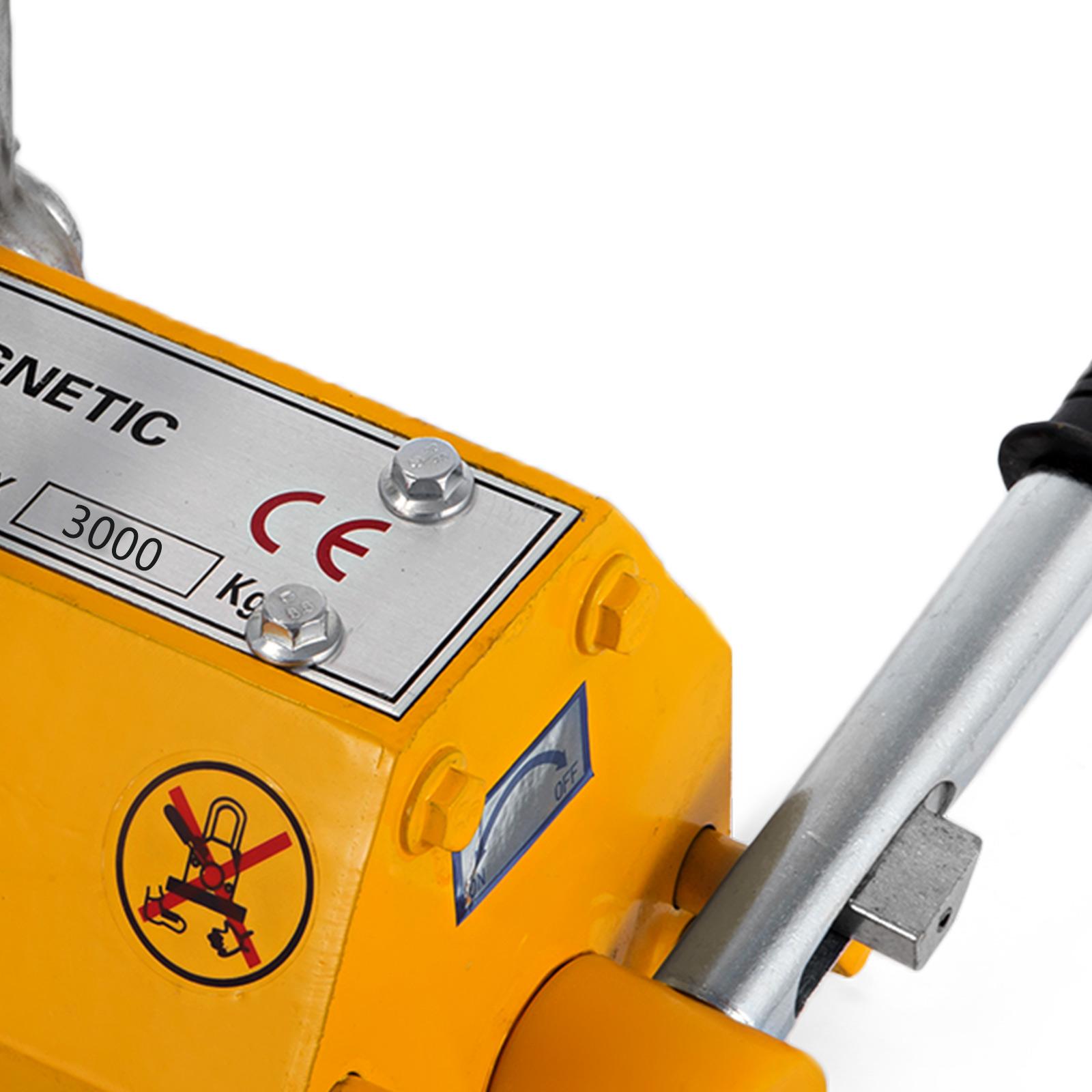 100-300-600-1000KG-Steel-Magnetic-Lifter-Heavy-Duty-Crane-Hoist-Lifting-Magnet miniature 106
