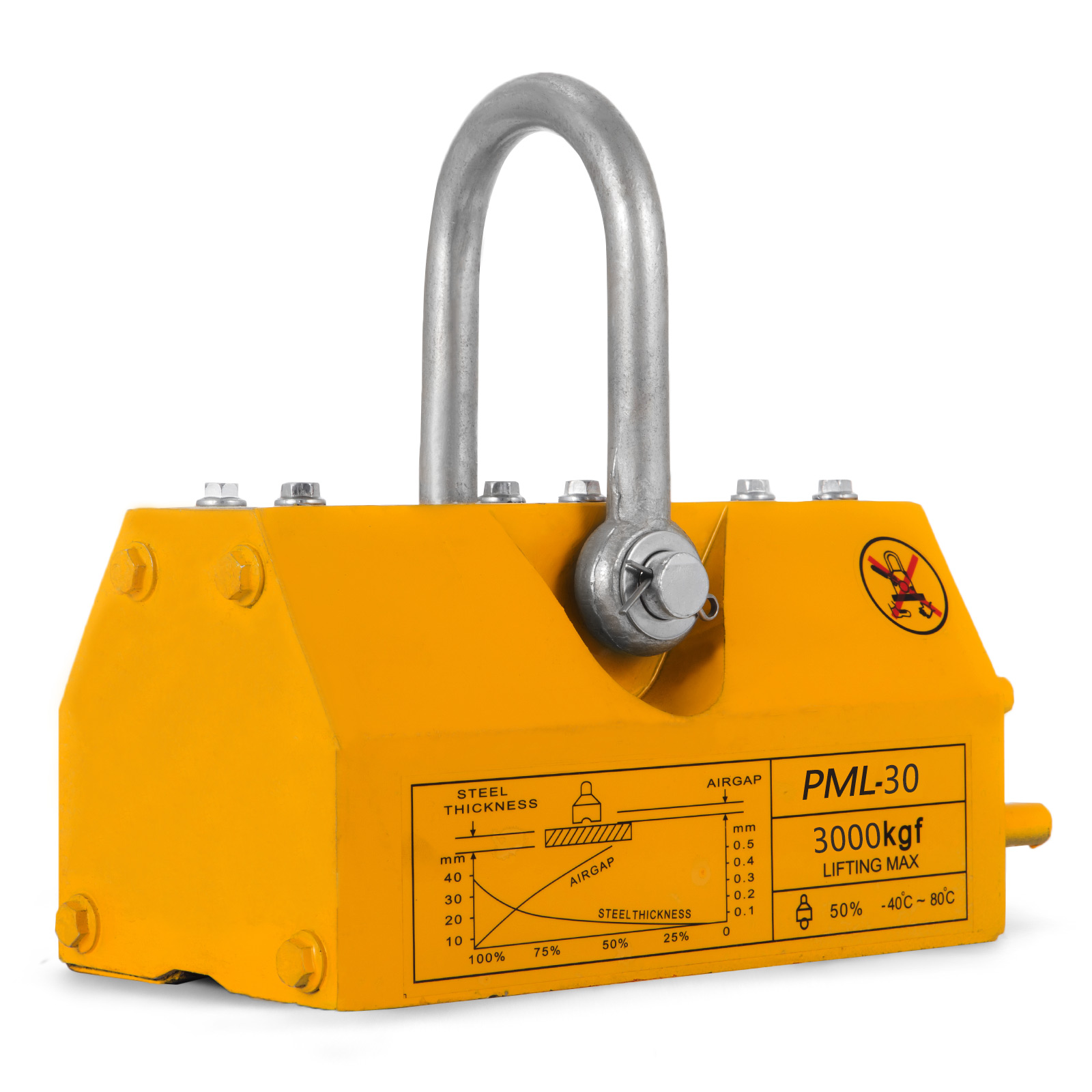 100-300-600-1000KG-Steel-Magnetic-Lifter-Heavy-Duty-Crane-Hoist-Lifting-Magnet miniature 102