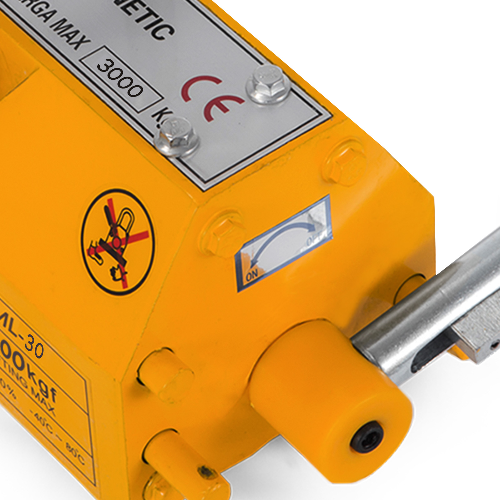 100-300-600-1000KG-Steel-Magnetic-Lifter-Heavy-Duty-Crane-Hoist-Lifting-Magnet miniature 104