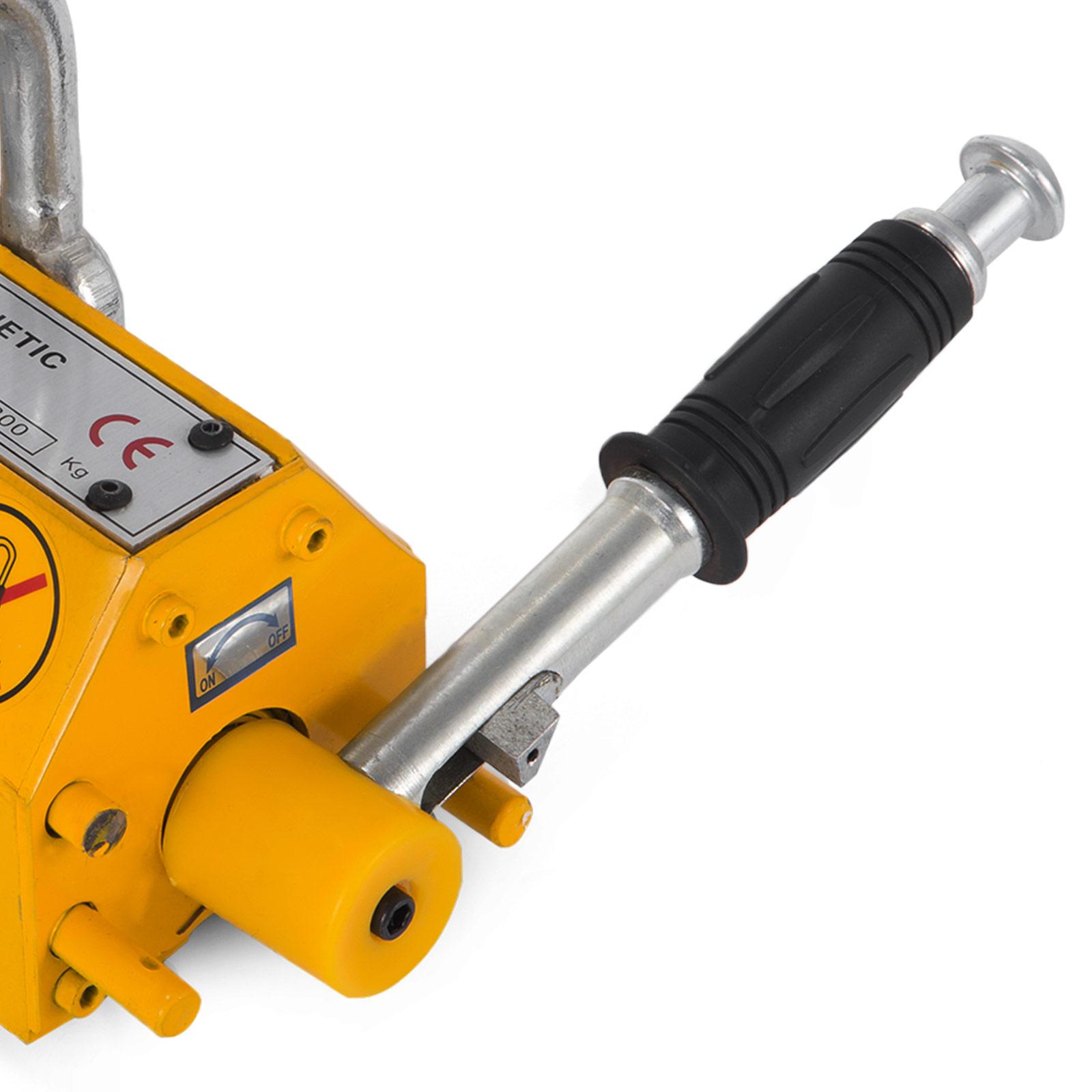 100-300-600-1000KG-Steel-Magnetic-Lifter-Heavy-Duty-Crane-Hoist-Lifting-Magnet miniature 36