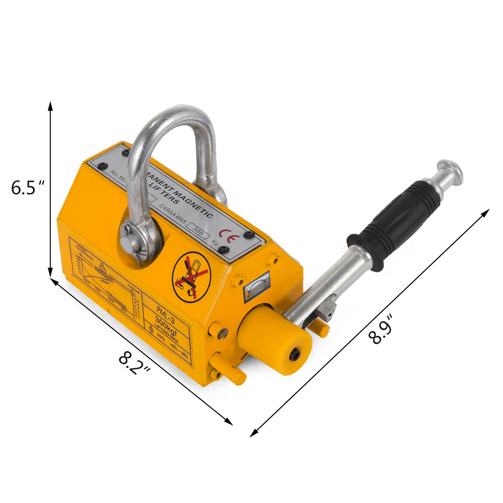 100-300-600-1000KG-Steel-Magnetic-Lifter-Heavy-Duty-Crane-Hoist-Lifting-Magnet miniature 26