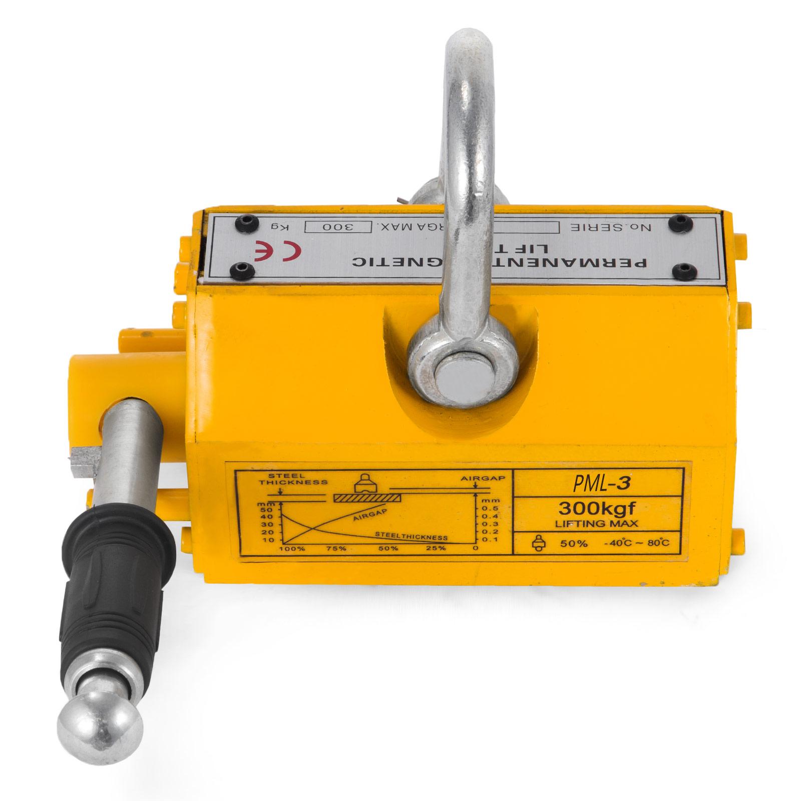 100-300-600-1000KG-Steel-Magnetic-Lifter-Heavy-Duty-Crane-Hoist-Lifting-Magnet miniature 29