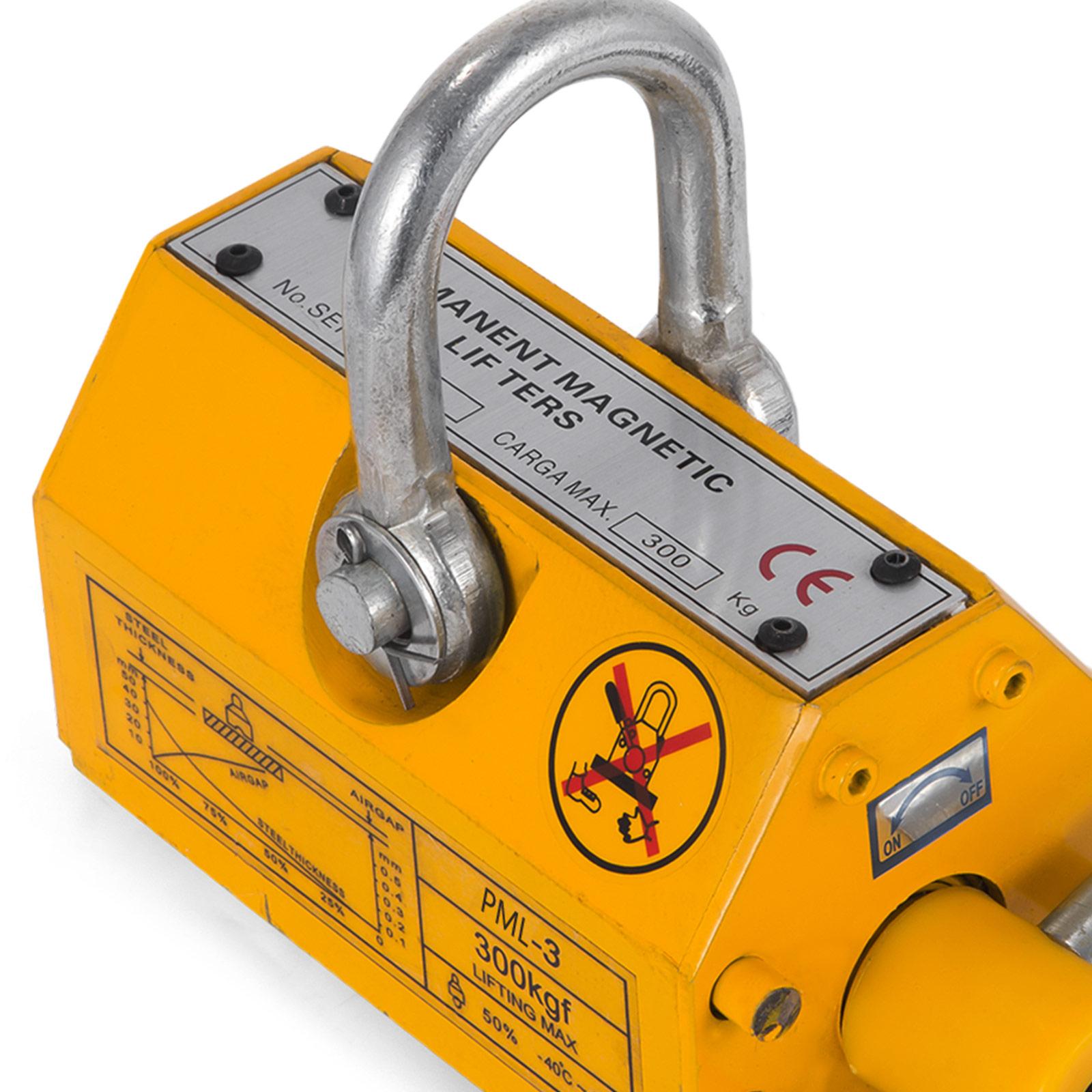 100-300-600-1000KG-Steel-Magnetic-Lifter-Heavy-Duty-Crane-Hoist-Lifting-Magnet miniature 32