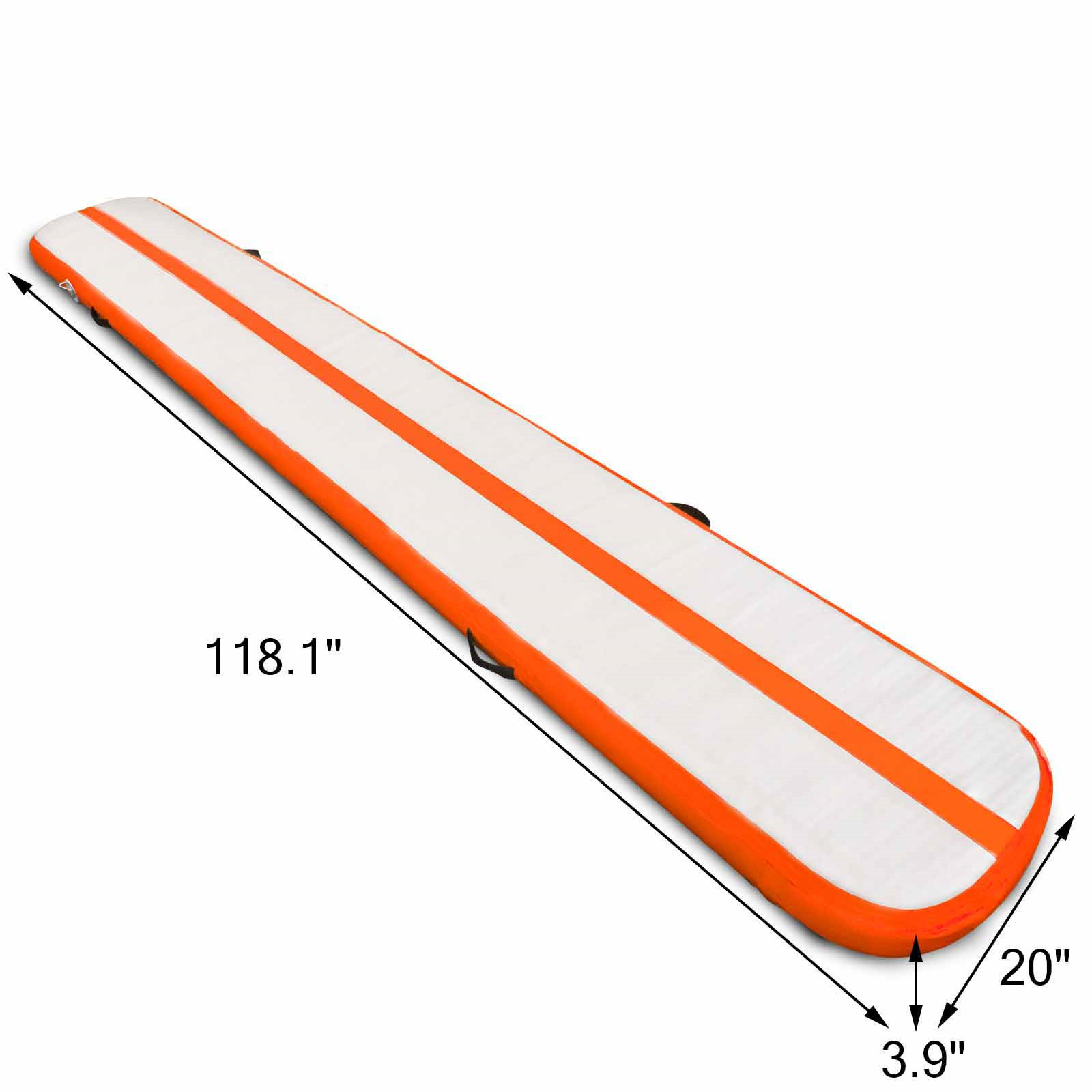 Air-Track-10x3FT-Trumbling-Airtrack-Gymnastics-Yoga-Floor-Mat-Training-Pad-Home thumbnail 158