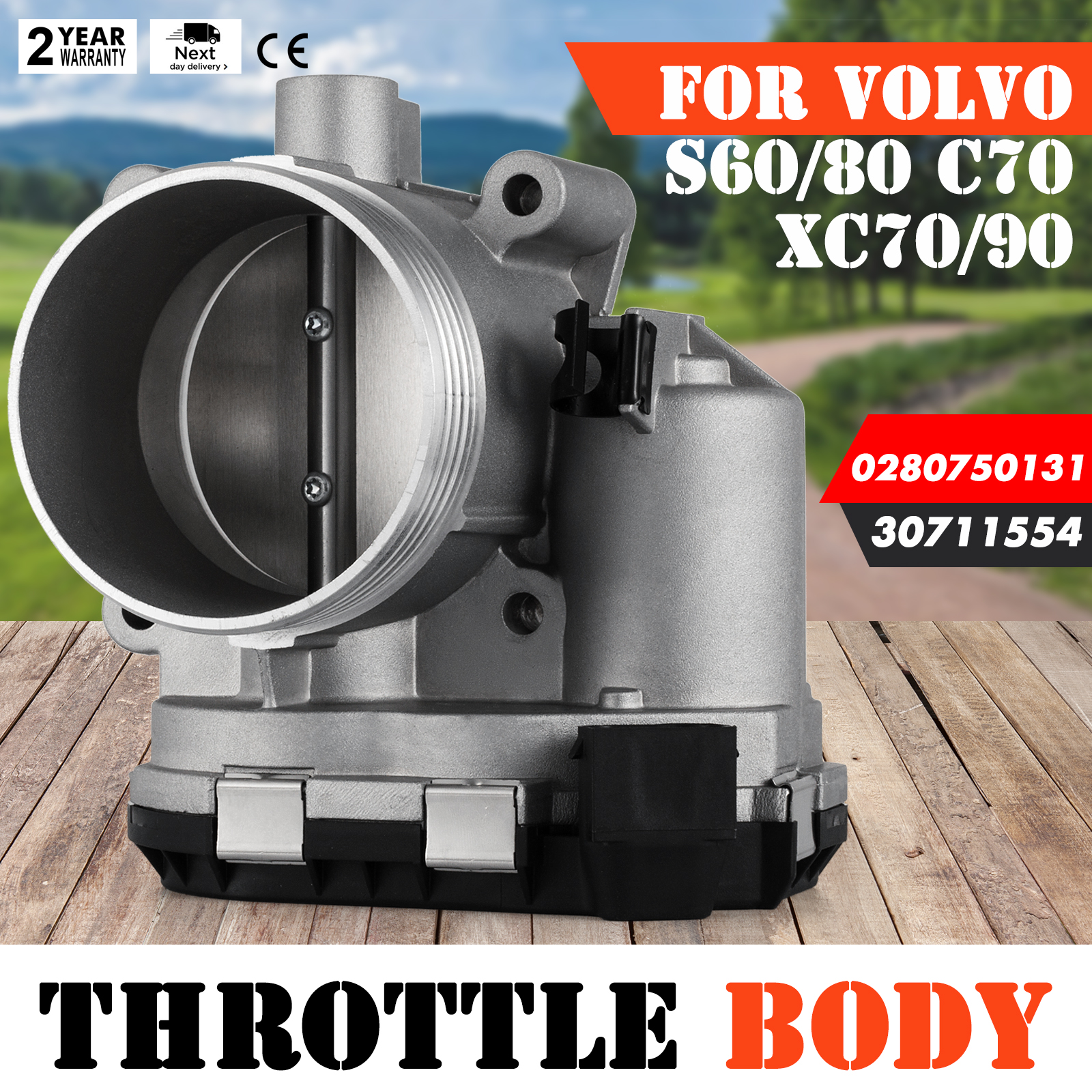 Throttle Body for Volvo C70 S60 S80 V70 XC70 XC90 30711554 Durable Unit OEM
