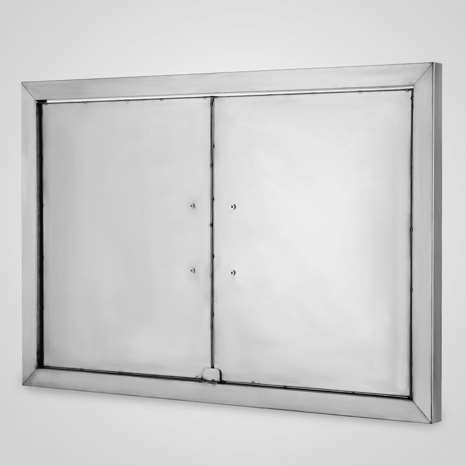 """BBQ 31"""" X 24"""" Built In Stainless Steel 2 Door Outdoor"""