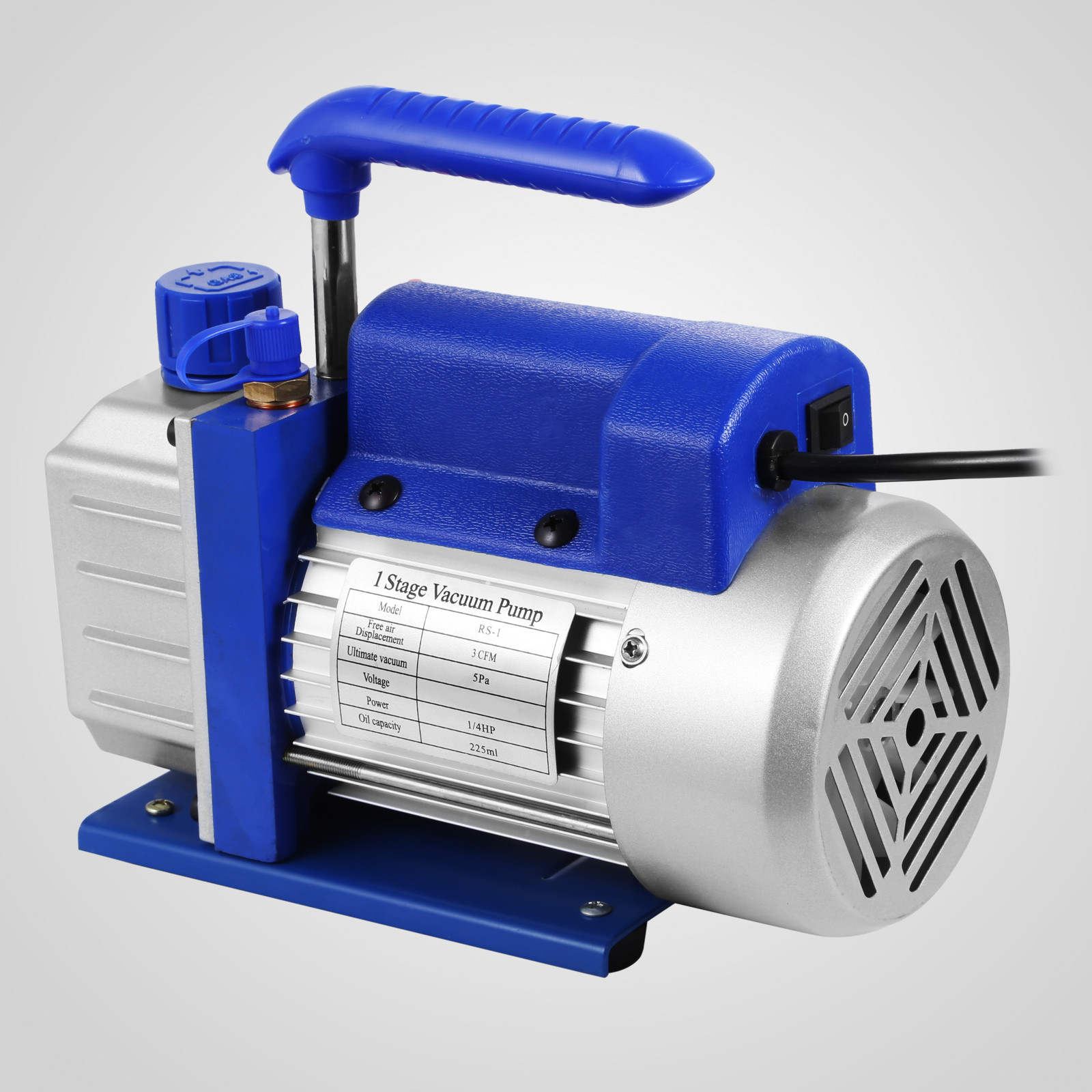 thumbnail 41 - 1-8CFM-3CFM-6CFM-9CFM-Refrigeration-Vacuum-Pump-1-Stage-HVAC-Air-Conditioning