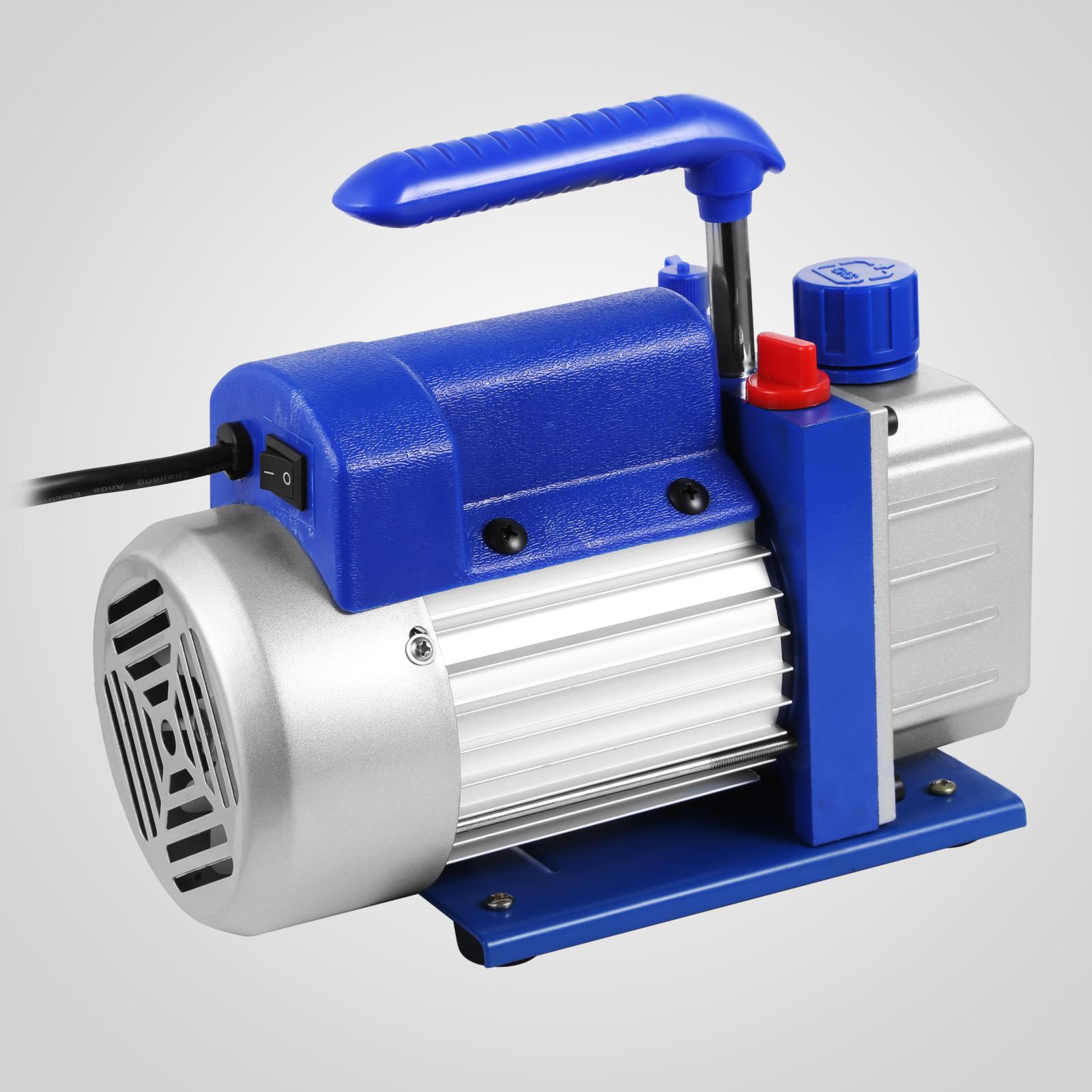 thumbnail 43 - 1-8CFM-3CFM-6CFM-9CFM-Refrigeration-Vacuum-Pump-1-Stage-HVAC-Air-Conditioning