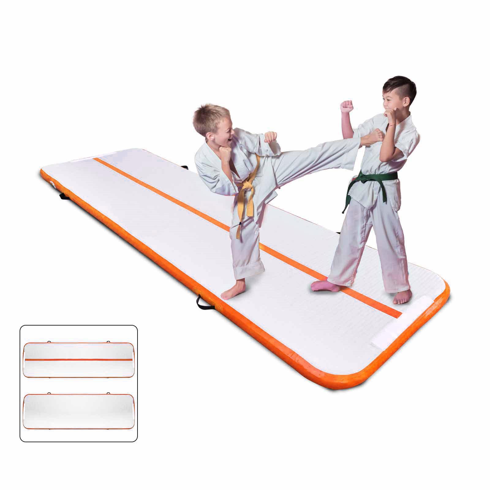 Air-Track-10x3FT-Trumbling-Airtrack-Gymnastics-Yoga-Floor-Mat-Training-Pad-Home thumbnail 95