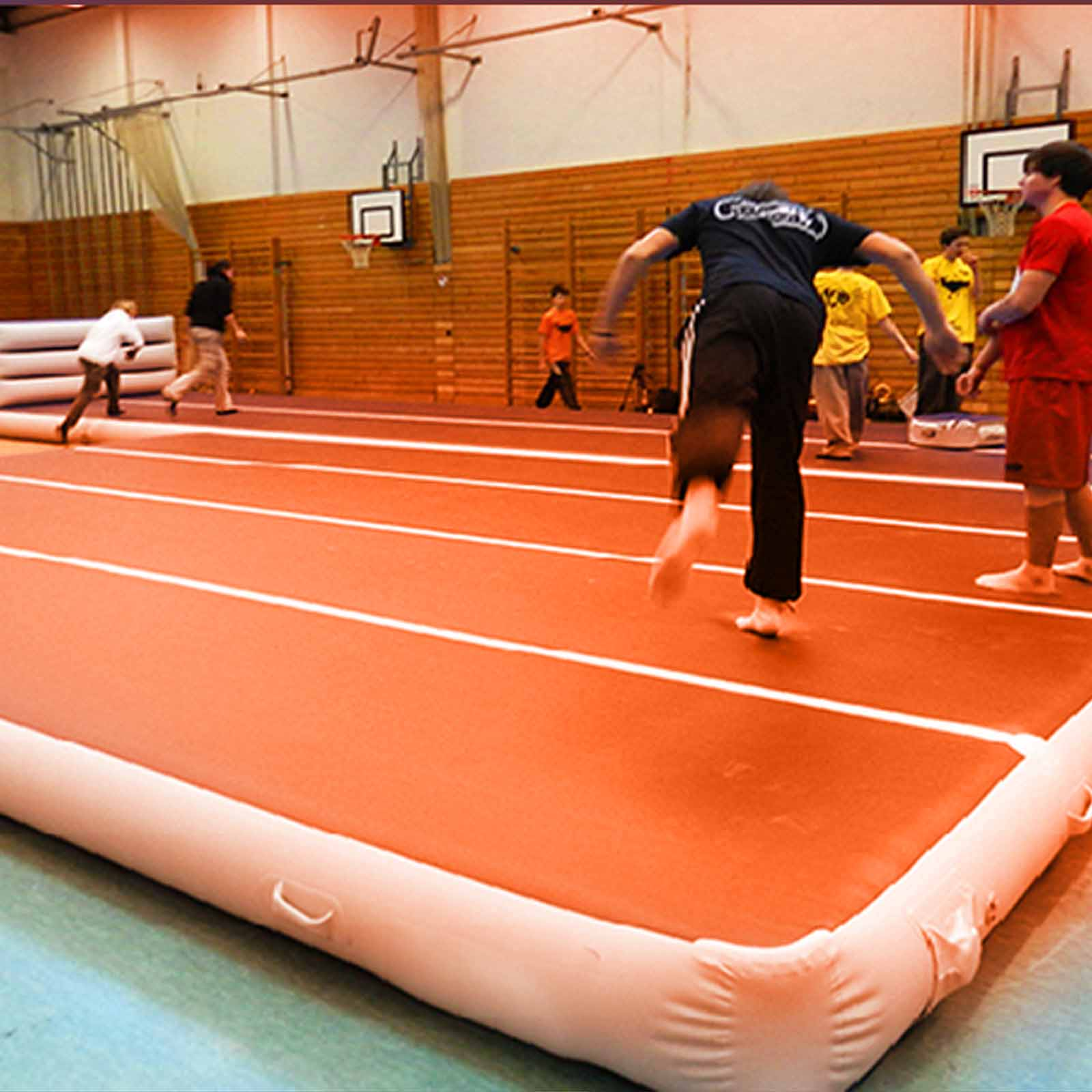 Air-Track-10x3FT-Trumbling-Airtrack-Gymnastics-Yoga-Floor-Mat-Training-Pad-Home thumbnail 96