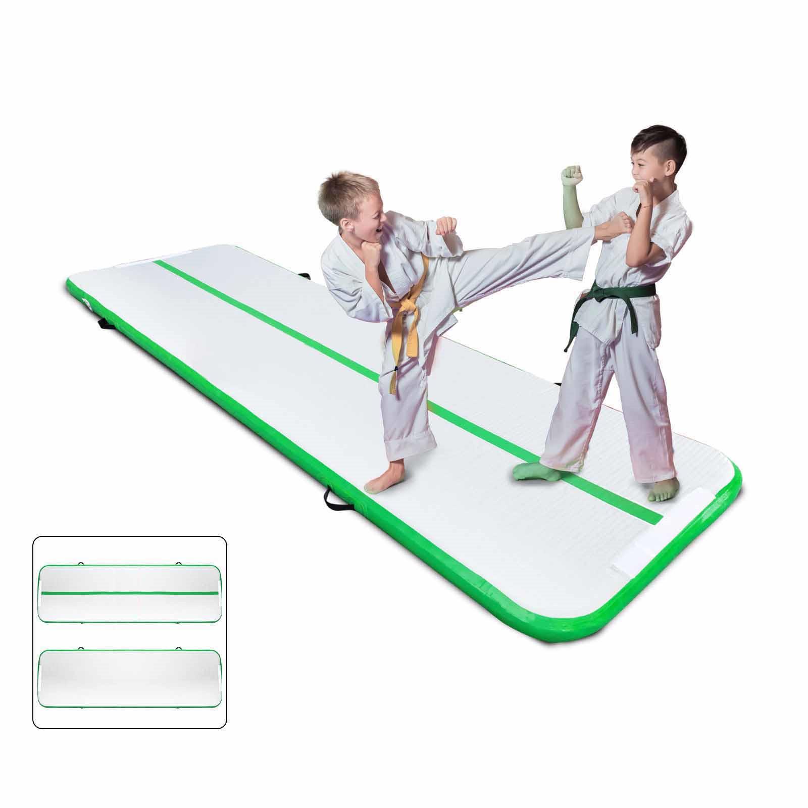 Air-Track-10x3FT-Trumbling-Airtrack-Gymnastics-Yoga-Floor-Mat-Training-Pad-Home thumbnail 71