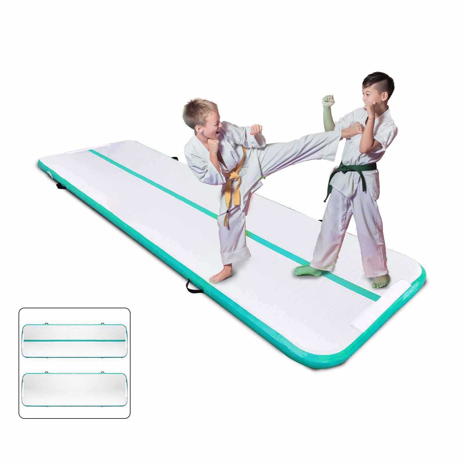 Air-Track-10x3FT-Trumbling-Airtrack-Gymnastics-Yoga-Floor-Mat-Training-Pad-Home thumbnail 83