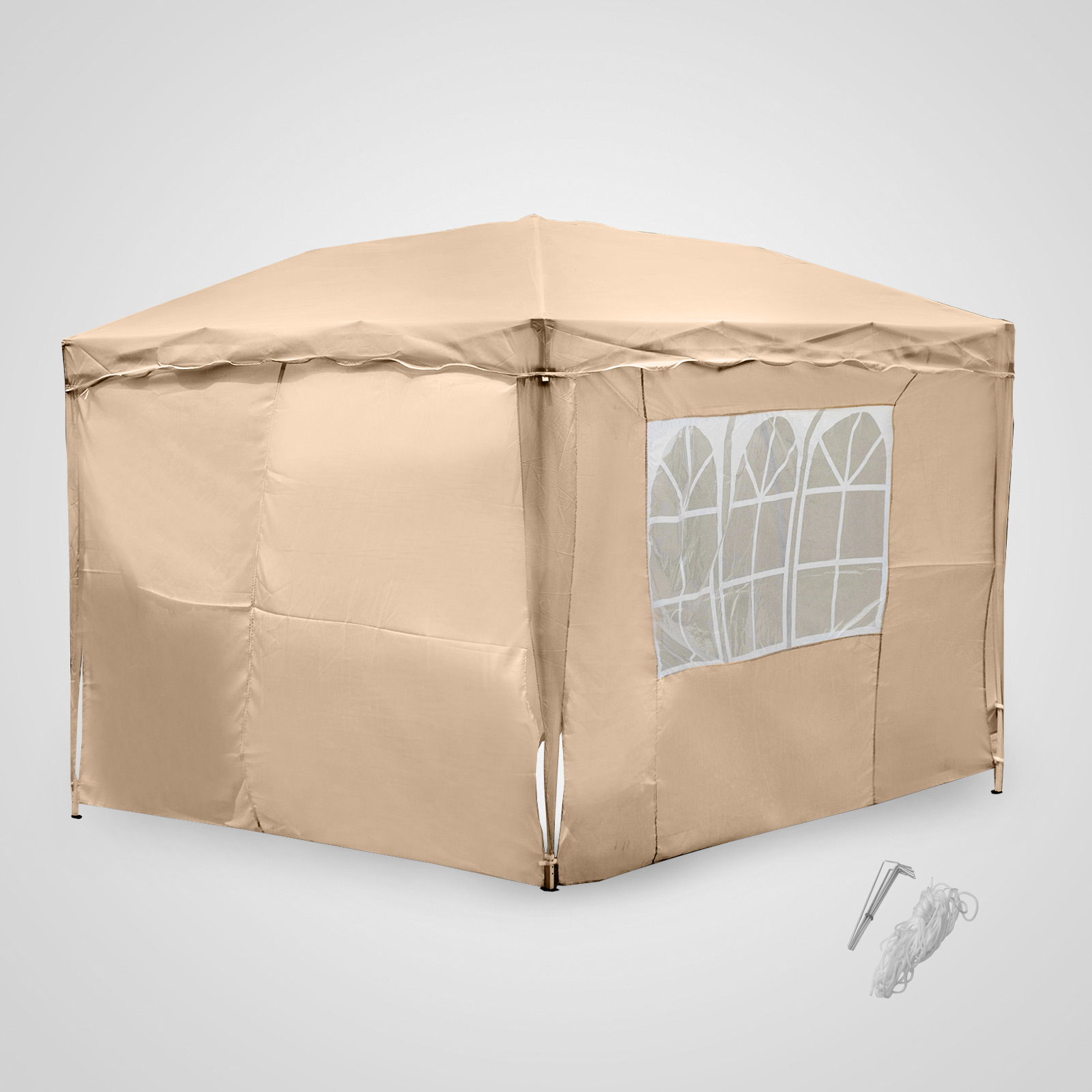 Carpa plegable 3x3m tipo gazebo pabell n cenador paneles for Gazebo plegable easy