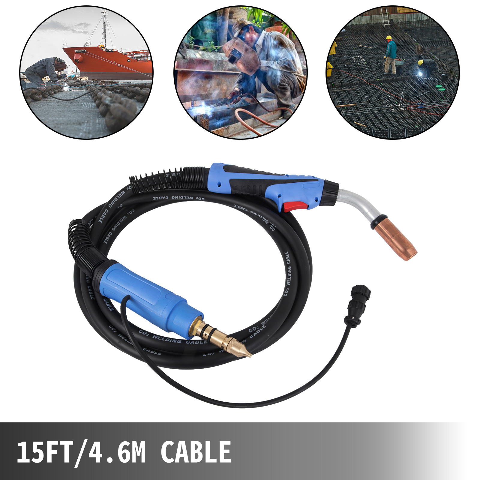 MIG Welding Gun Torch 15/' 250a for Millermatic Ironman 250 Replace Miller M25 for sale online