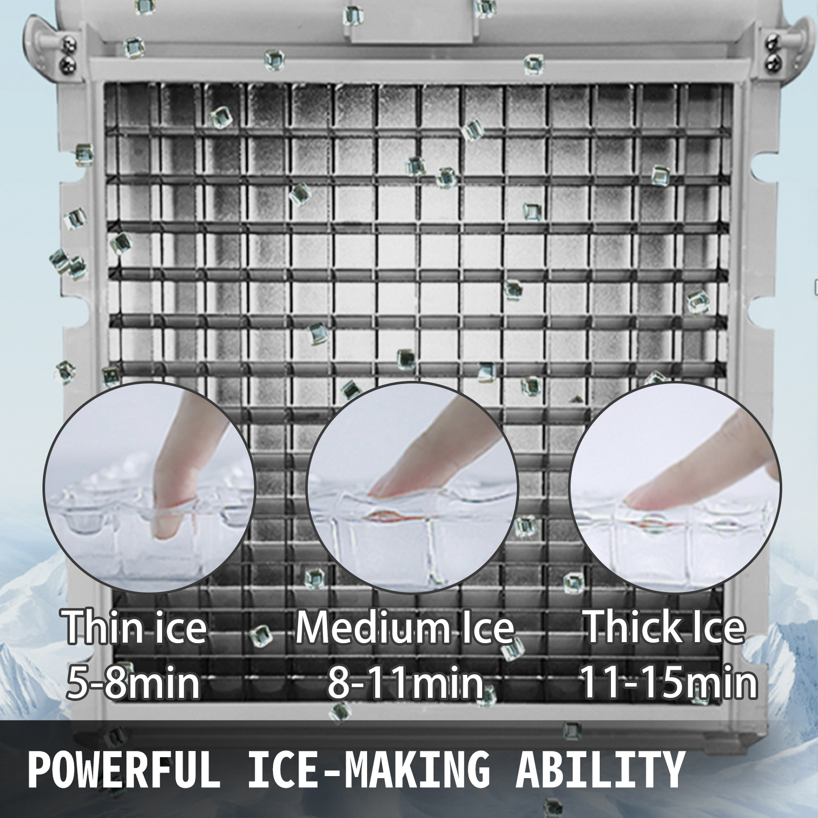 Commercial-Stainless-Steel-Ice-Maker-Ice-Machine-90-110-132-150-265-286-441-lbs thumbnail 15