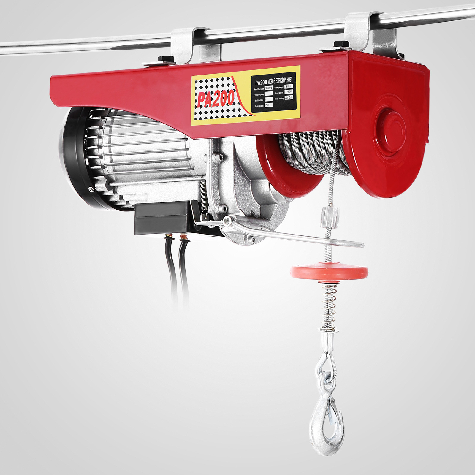 440lbs Electric Hoist Winch Lifting Engine Crane Cable